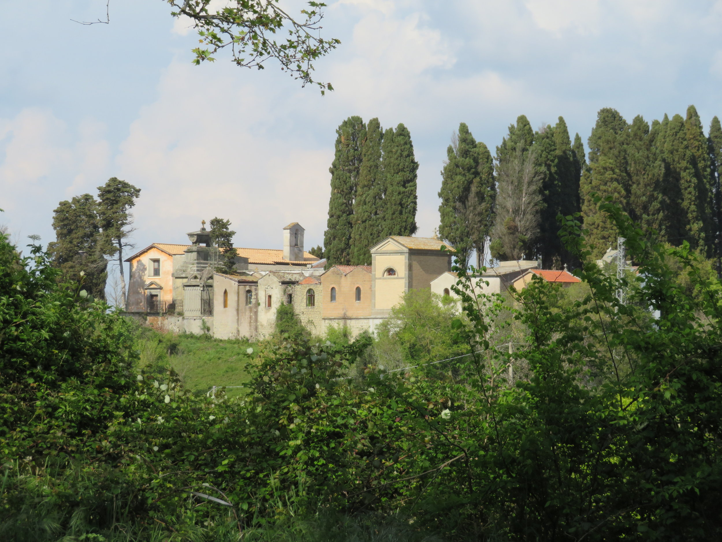 At last, the outskirts of Campagnano di Roma in the distance.