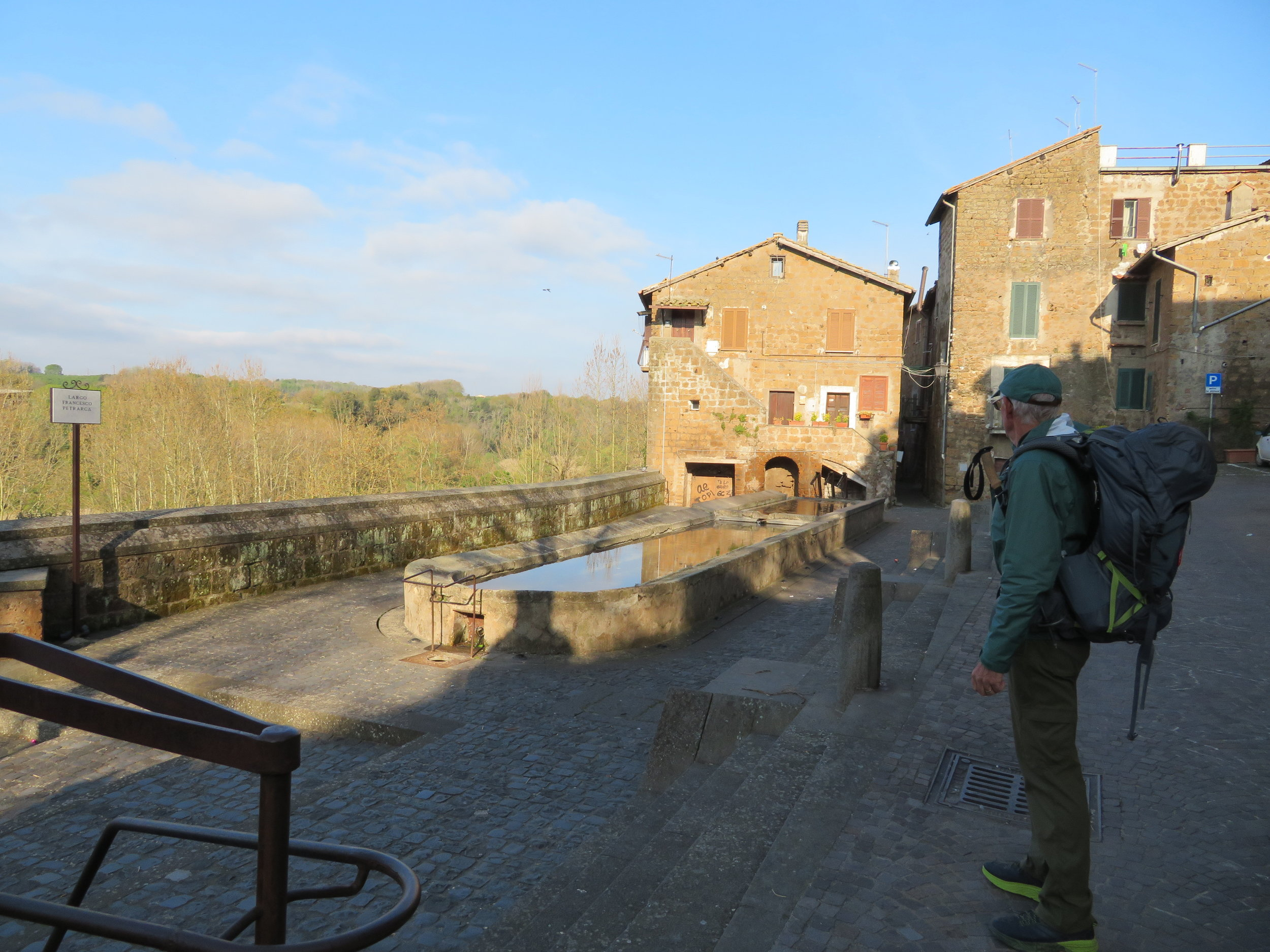 Heading from Sutri's old city back down to the Via Francigena