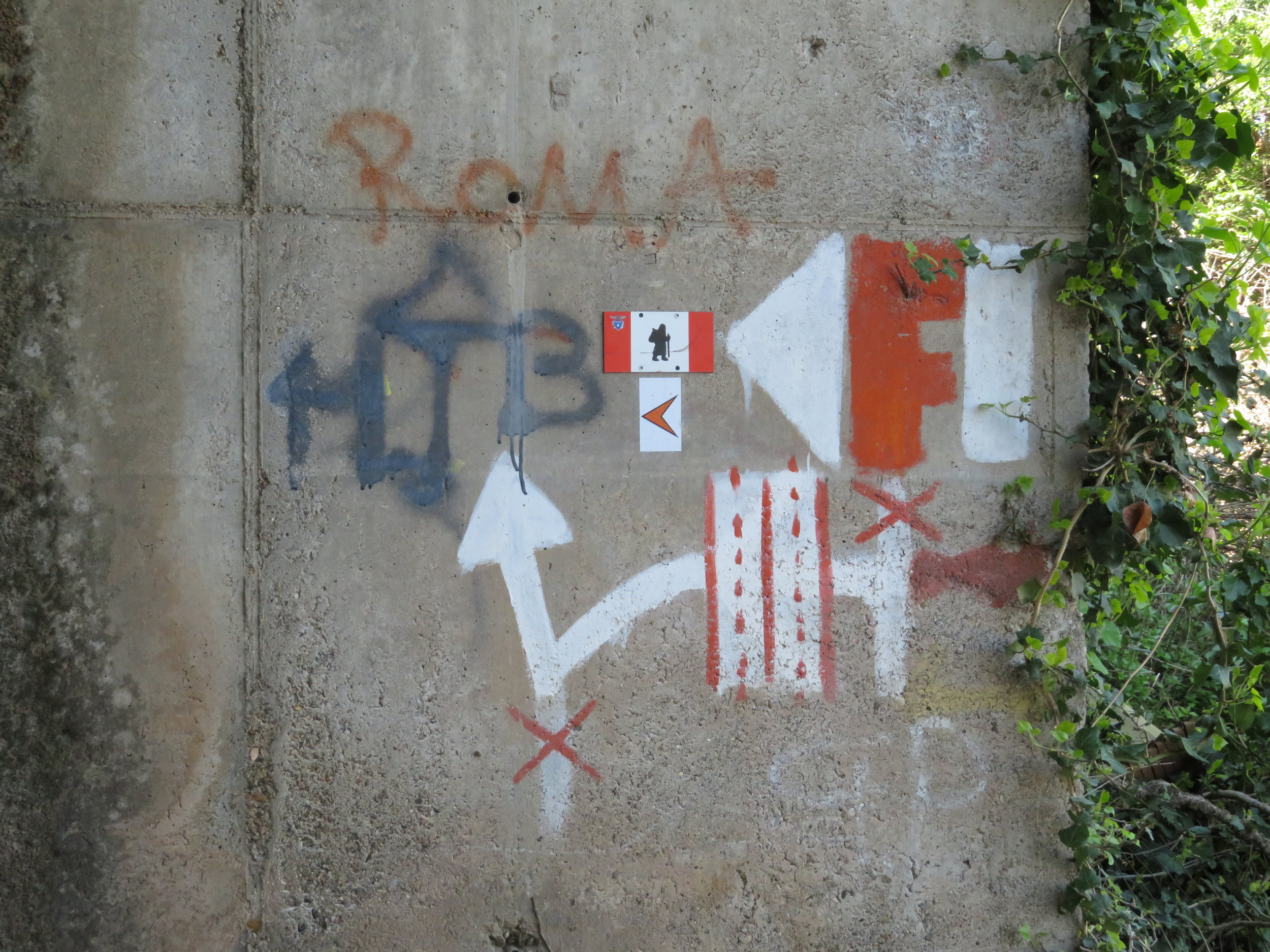 Sometimes the markers for the Via Francigena can get a little complicated.