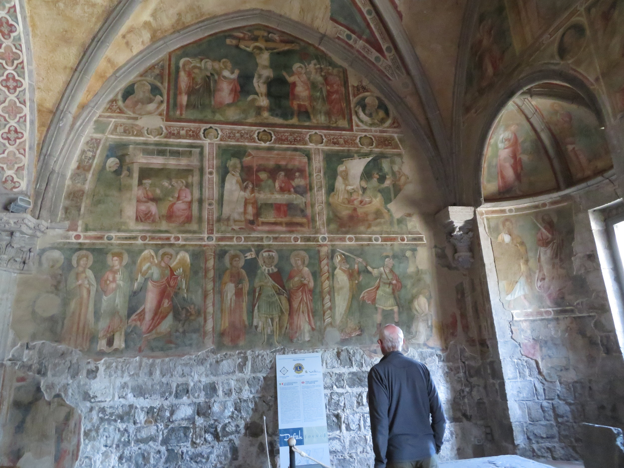 The frescoed walls were amazing.