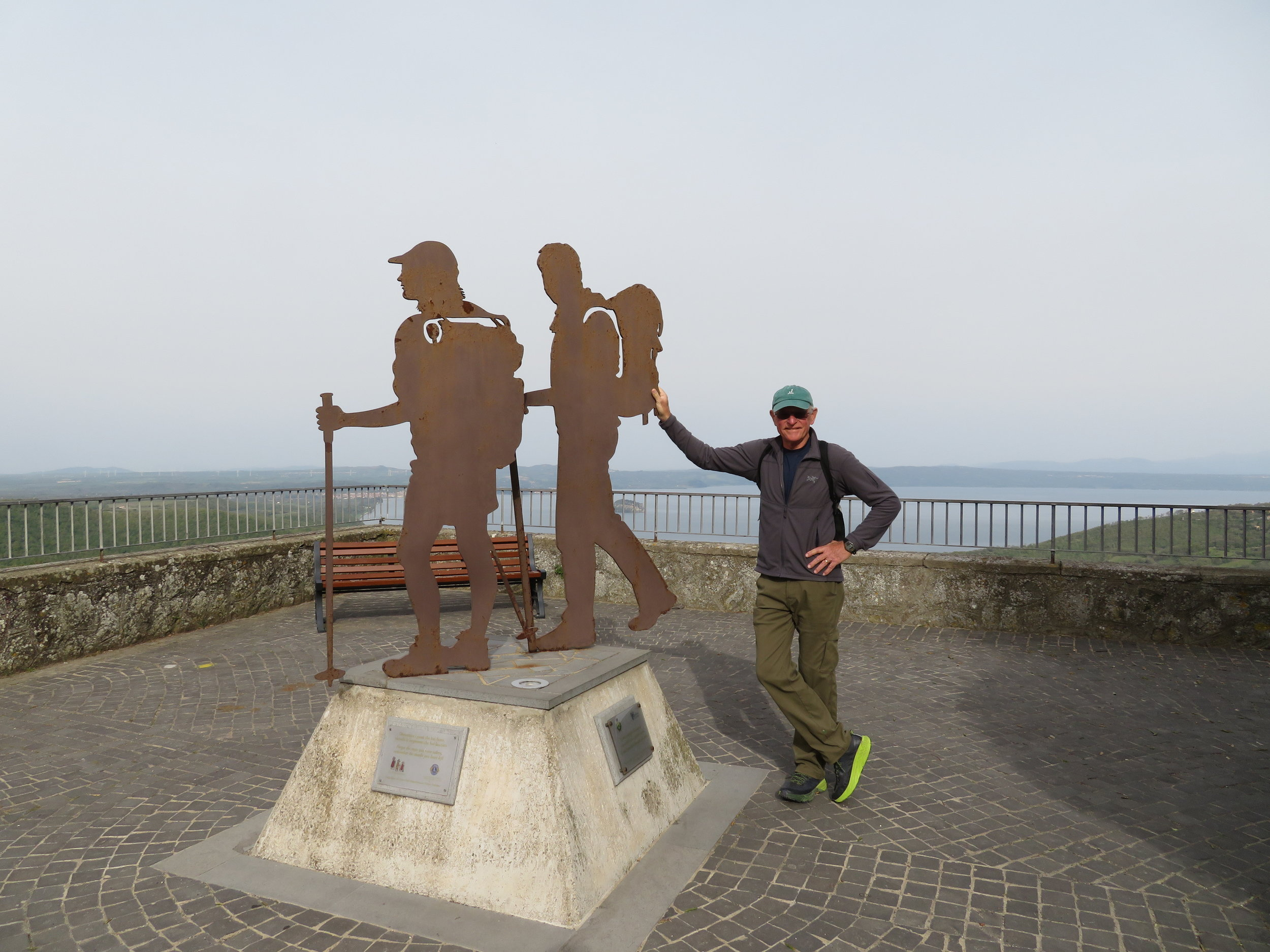 A monument to pilgrims at the top of Rocca di papi