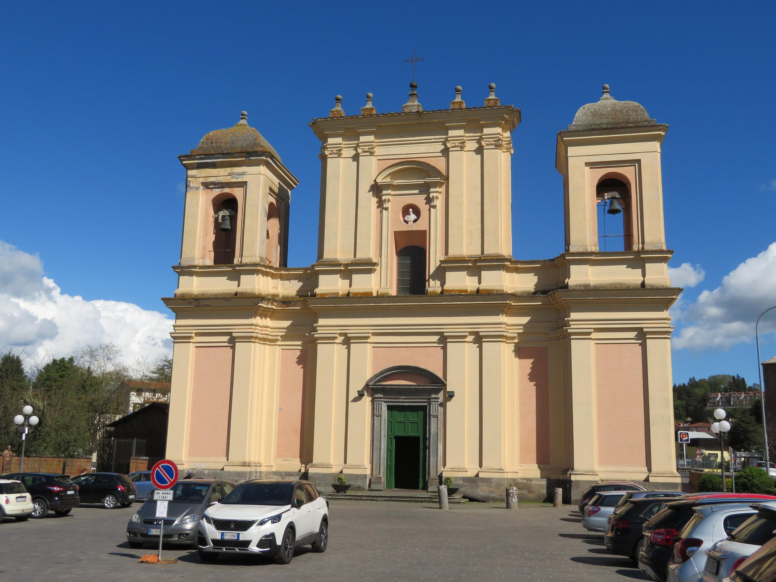 Basilica del Santo Sepolcro … the end of the day's walk to Acquapendente