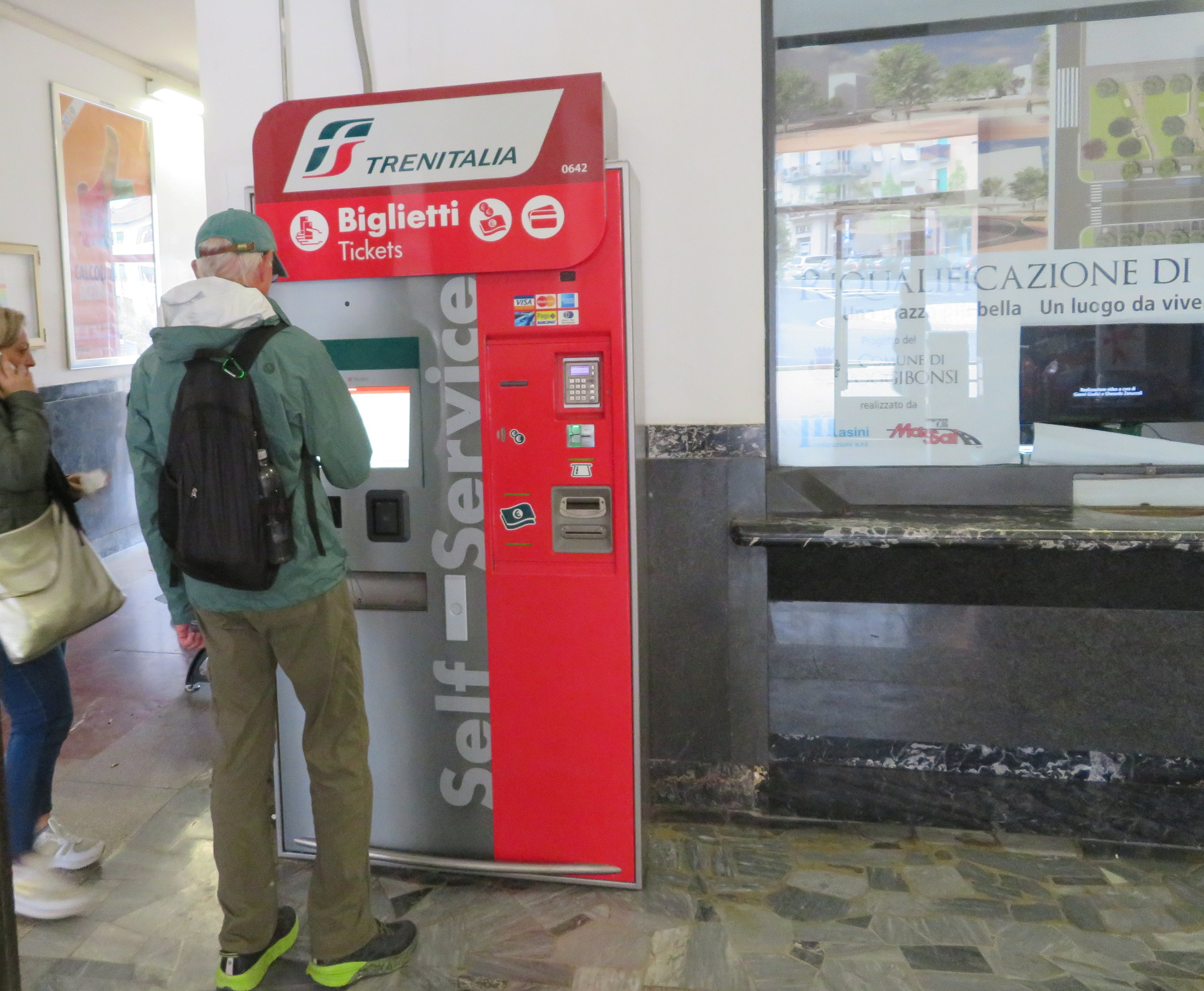 Buying tickets is easy - when there's a ticket machine