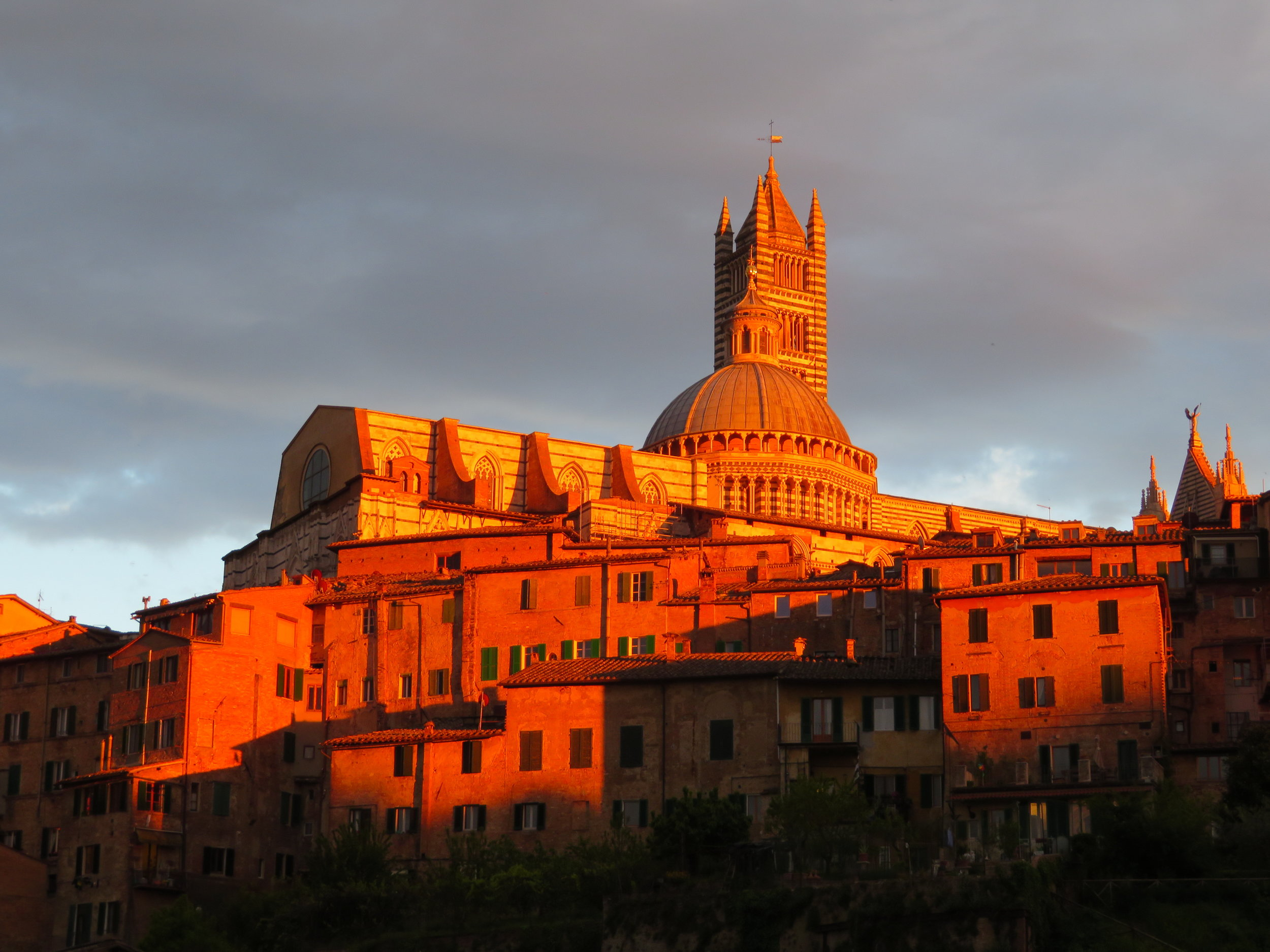 At sunset, it was as if the Duomo was on fire.