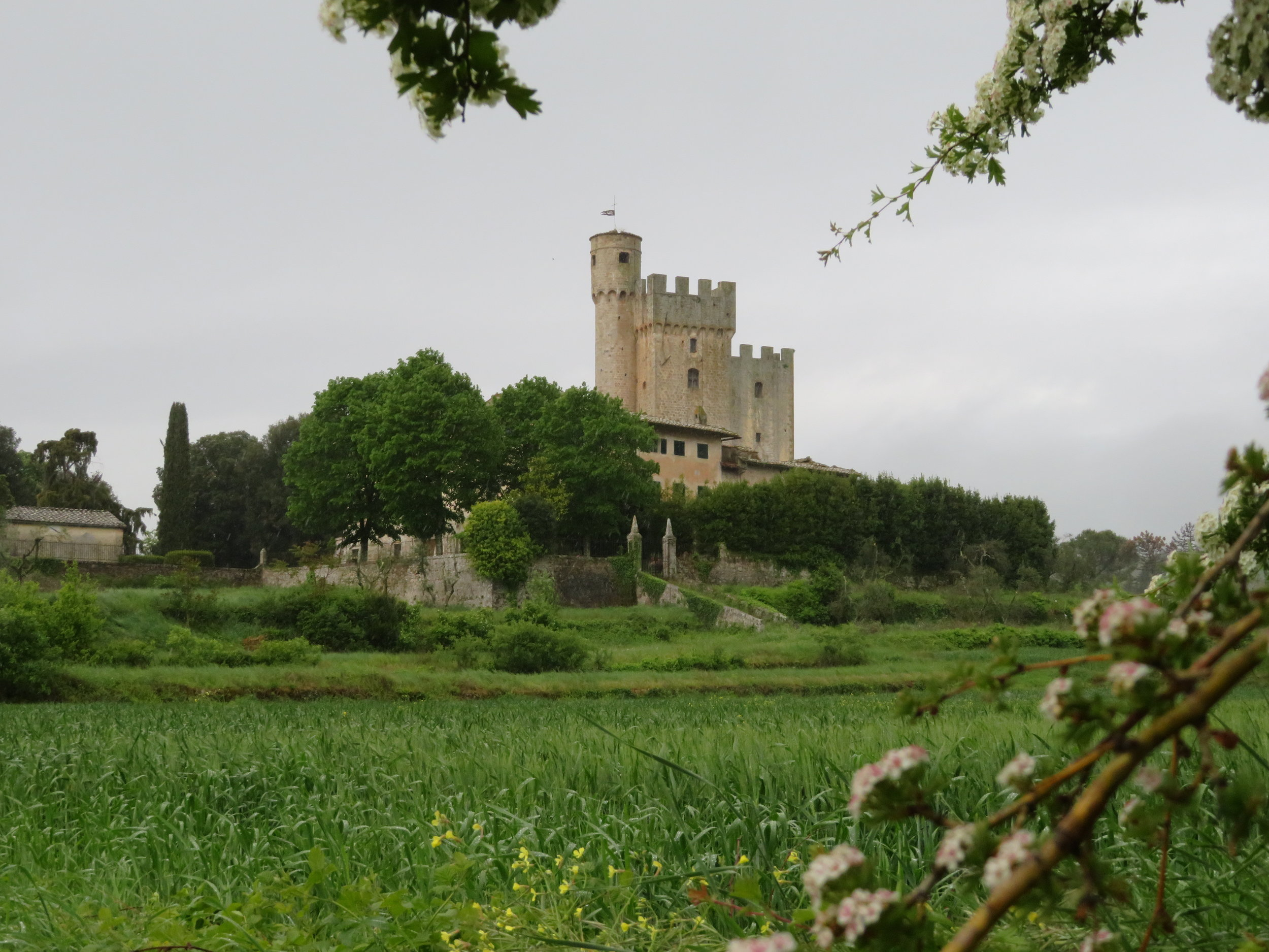 Just down the road from La Villa, we came across Castello della Chiocciola. Even in the rain, it was a beautiful sight to behold.