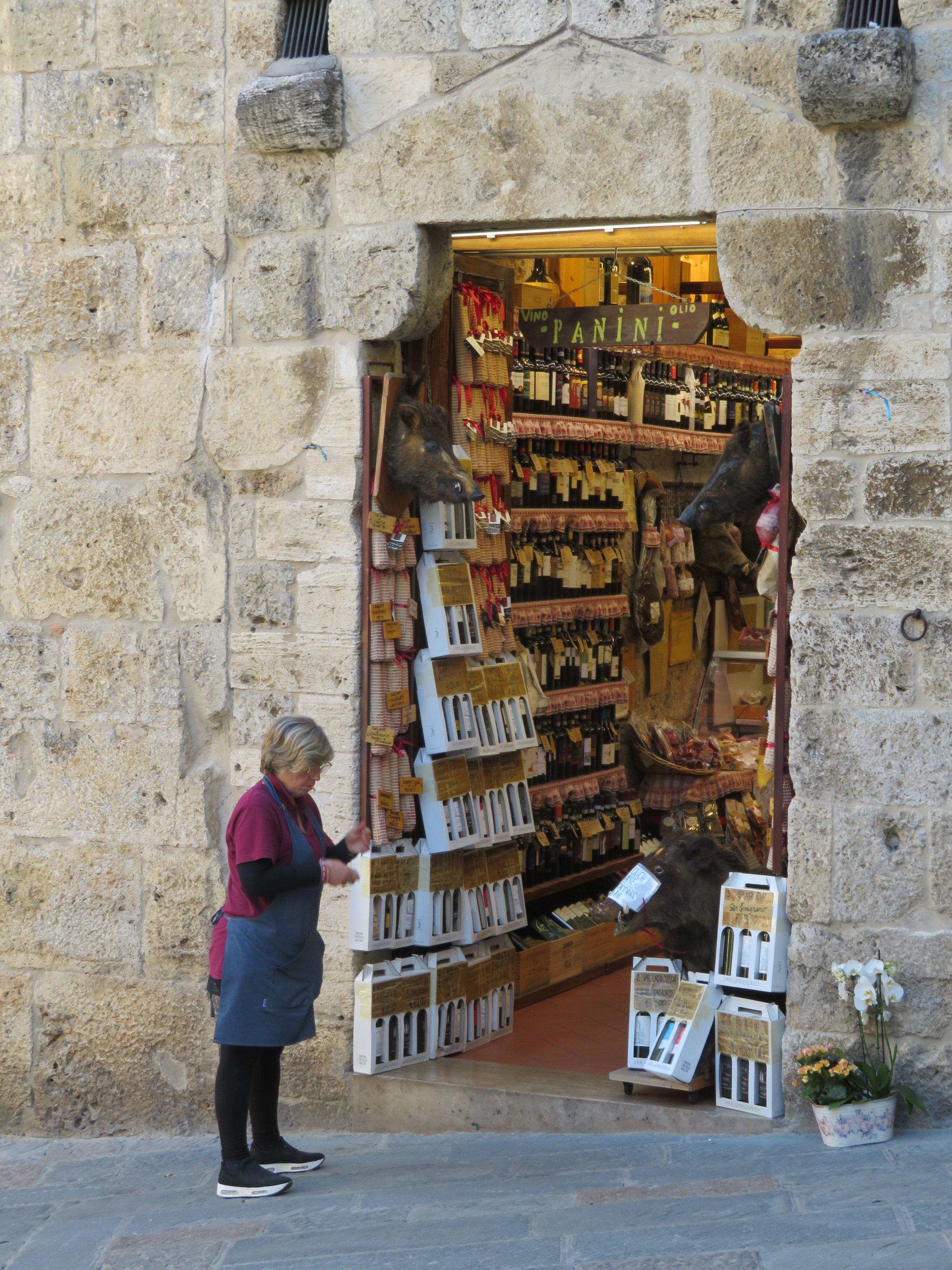 A fine wine shop