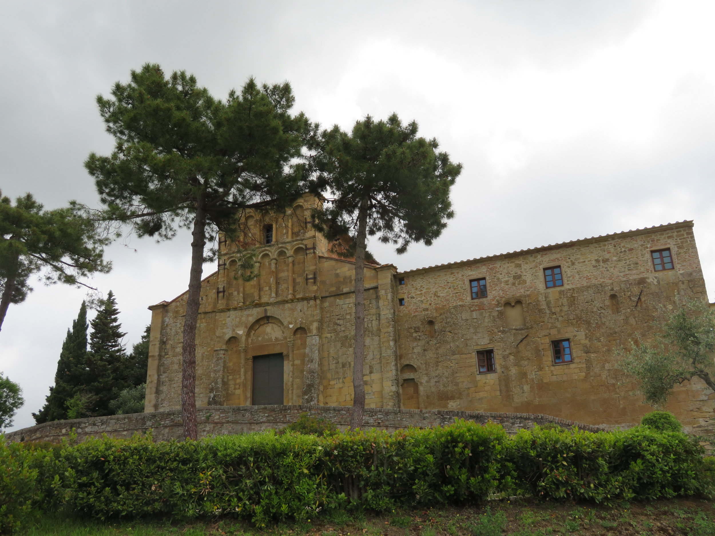 We passed by Pieve di Santa Maria Assunta a Chianni church in Gambassi Terme. It is mentioned in Archbishop Sigeric's chronicle as a place he stopped on his return from Rome ( c 990-994).