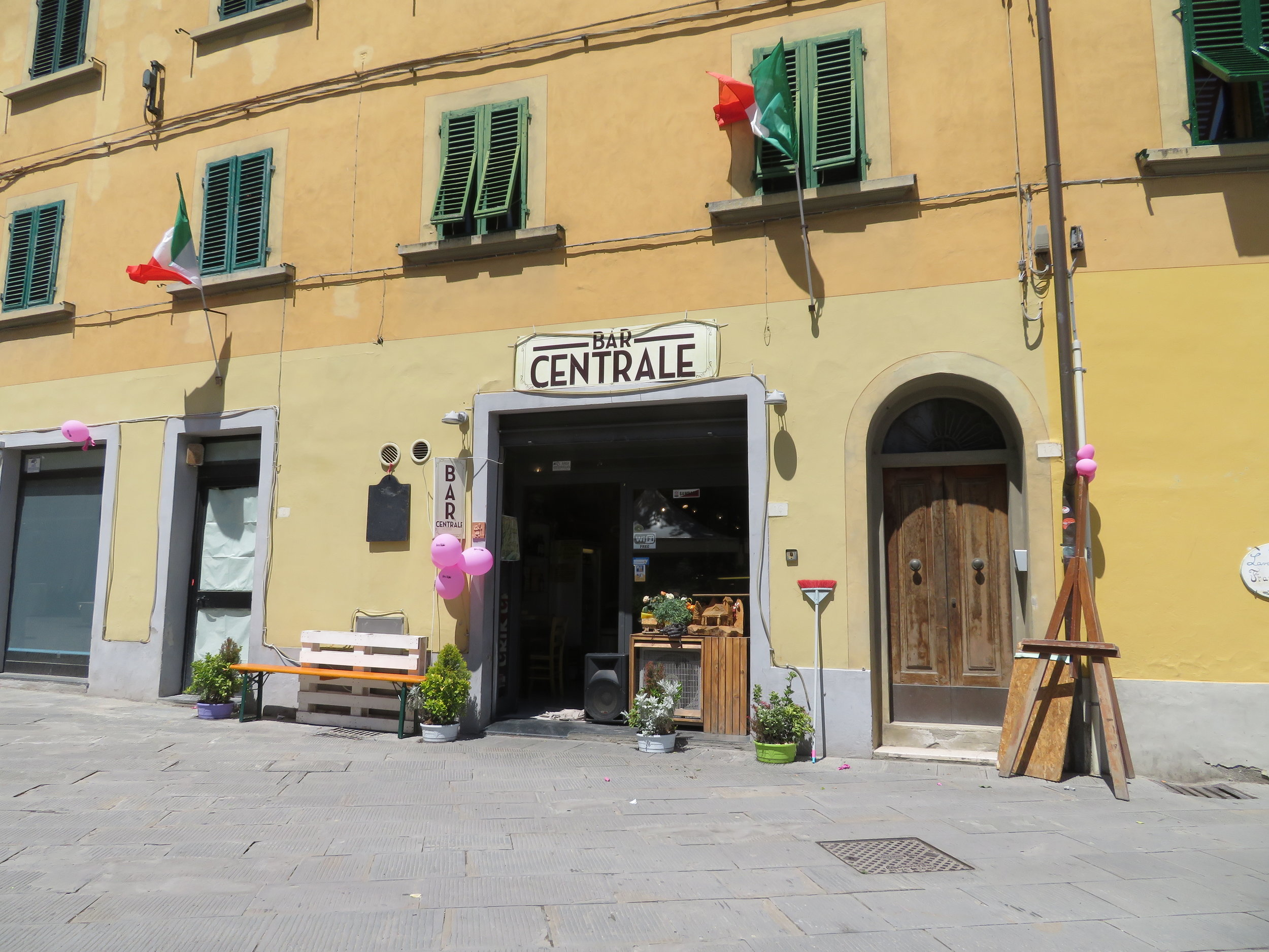 Welcome to Bar Centrale in Gambassi Terme which did provide a 'timbro' for our pilgrim passports.