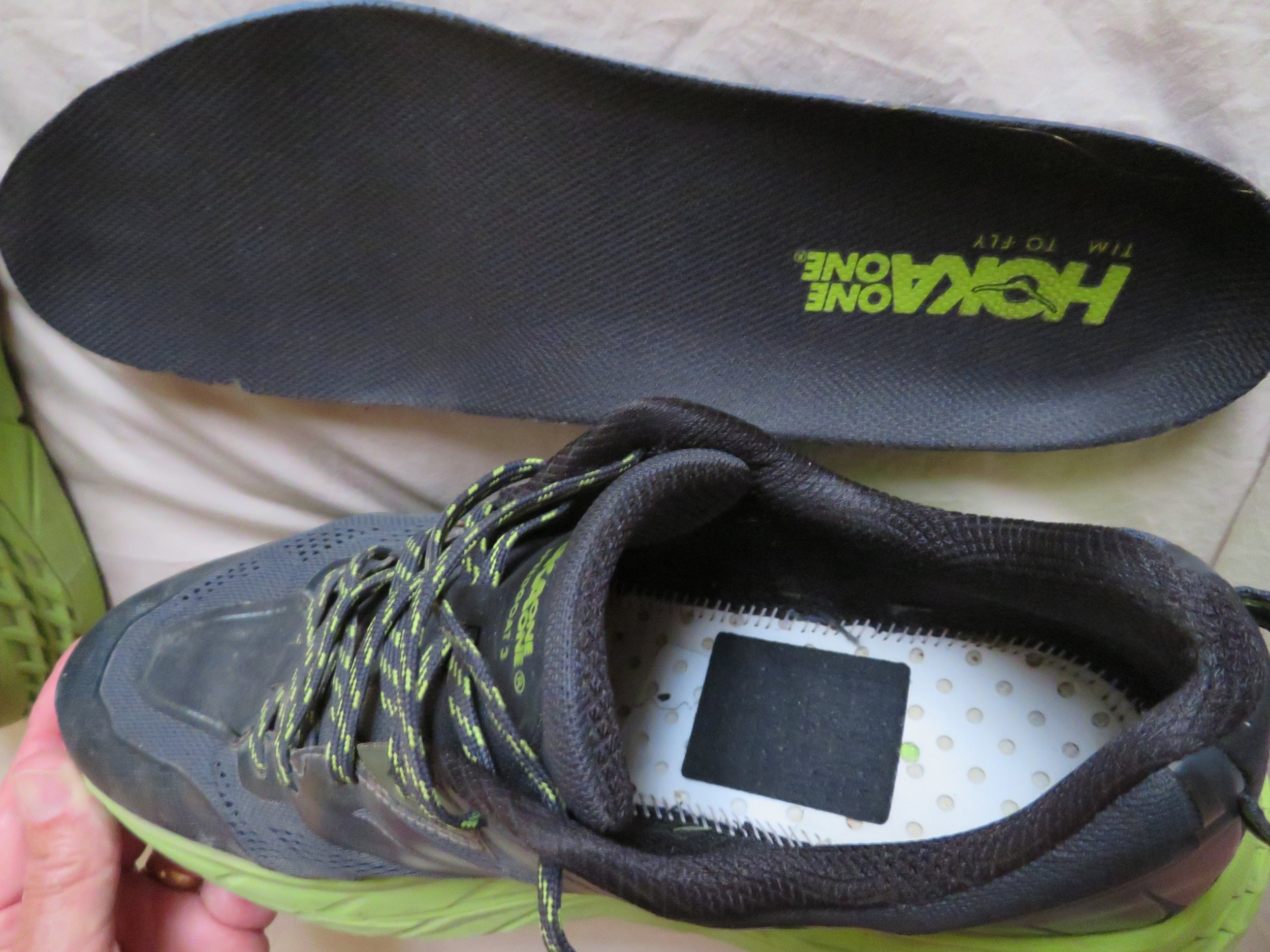 Zorpads stuck in place under the insole