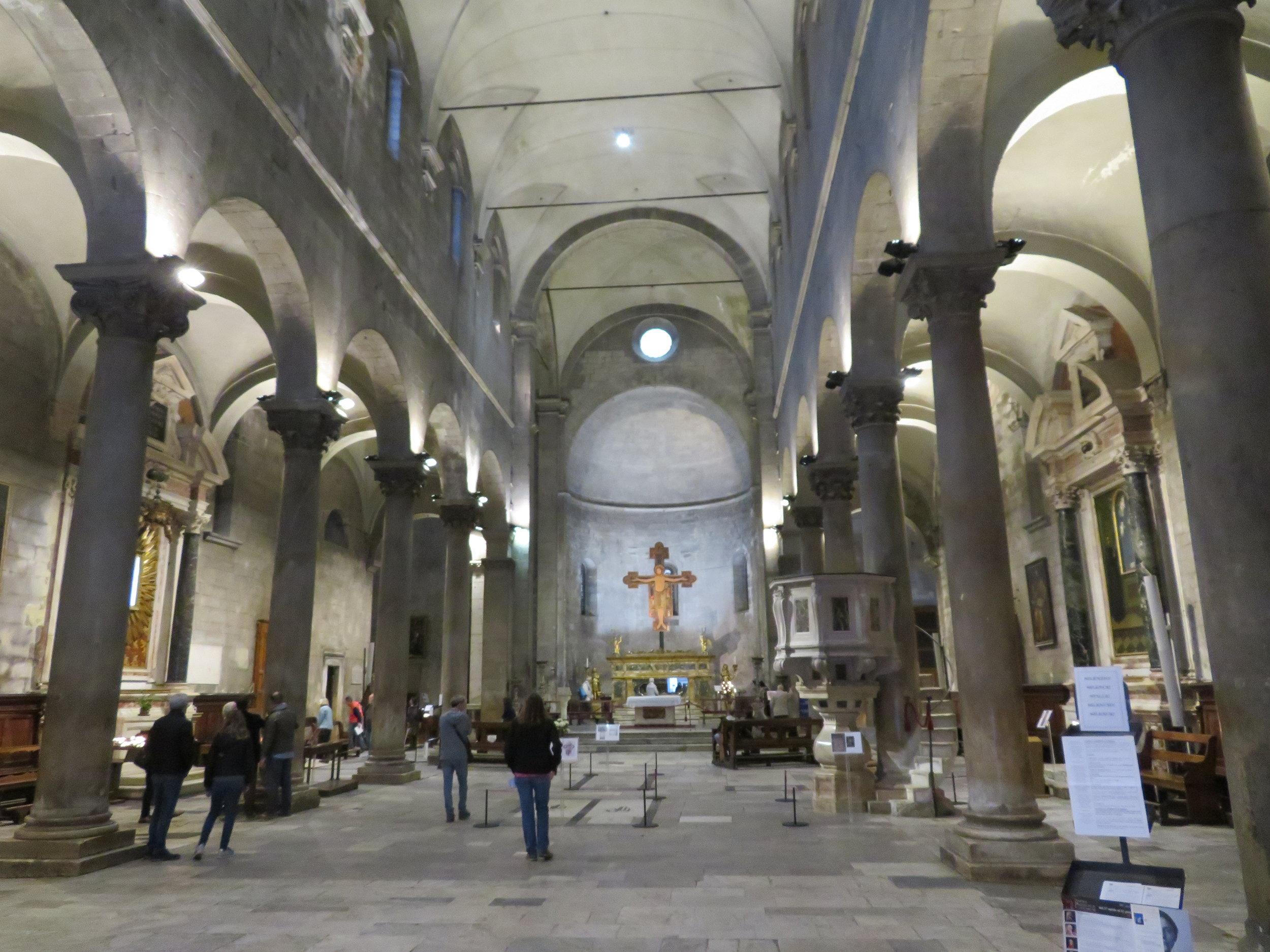 Inside San Michele in Foro