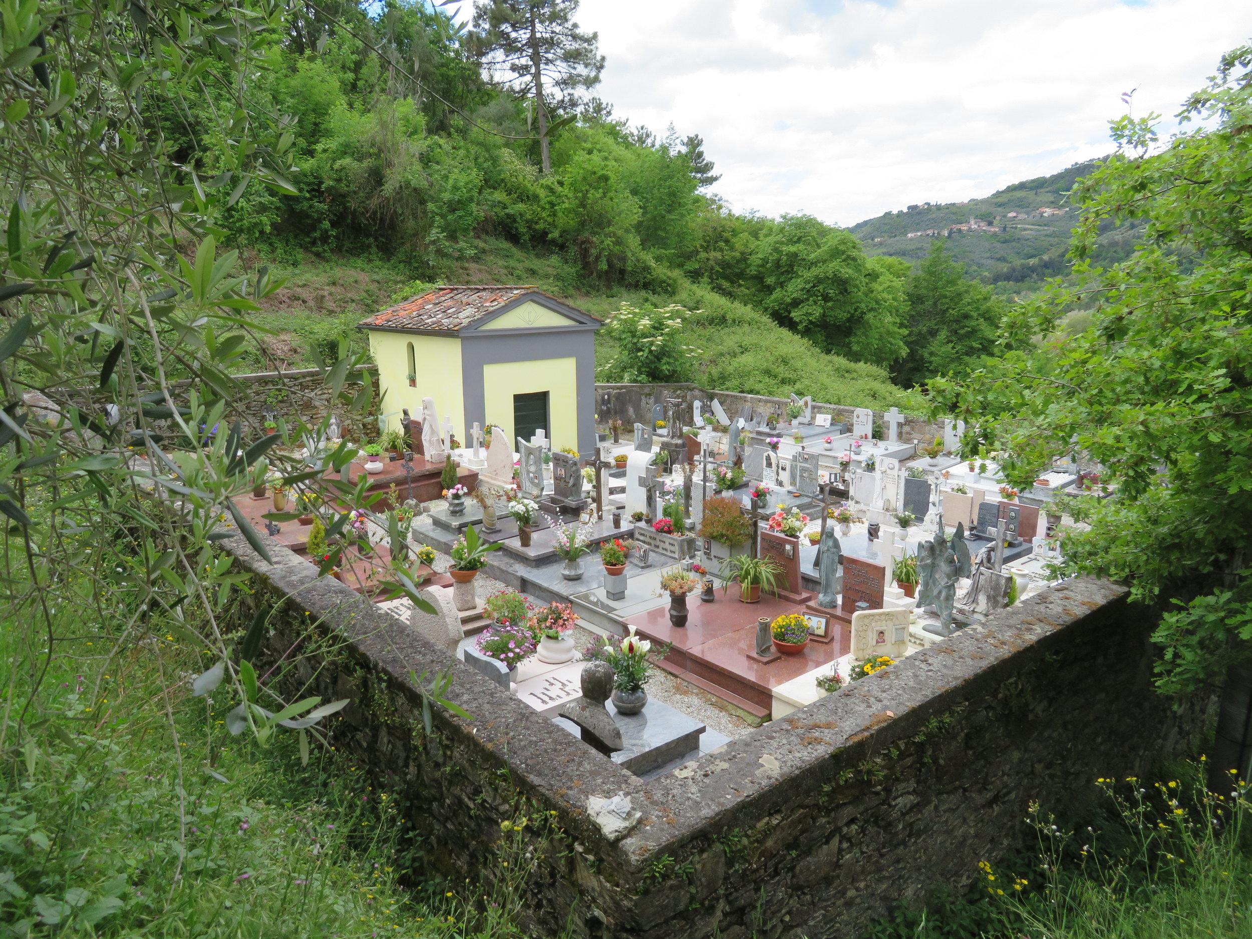 Tiny little mountain village cemetery