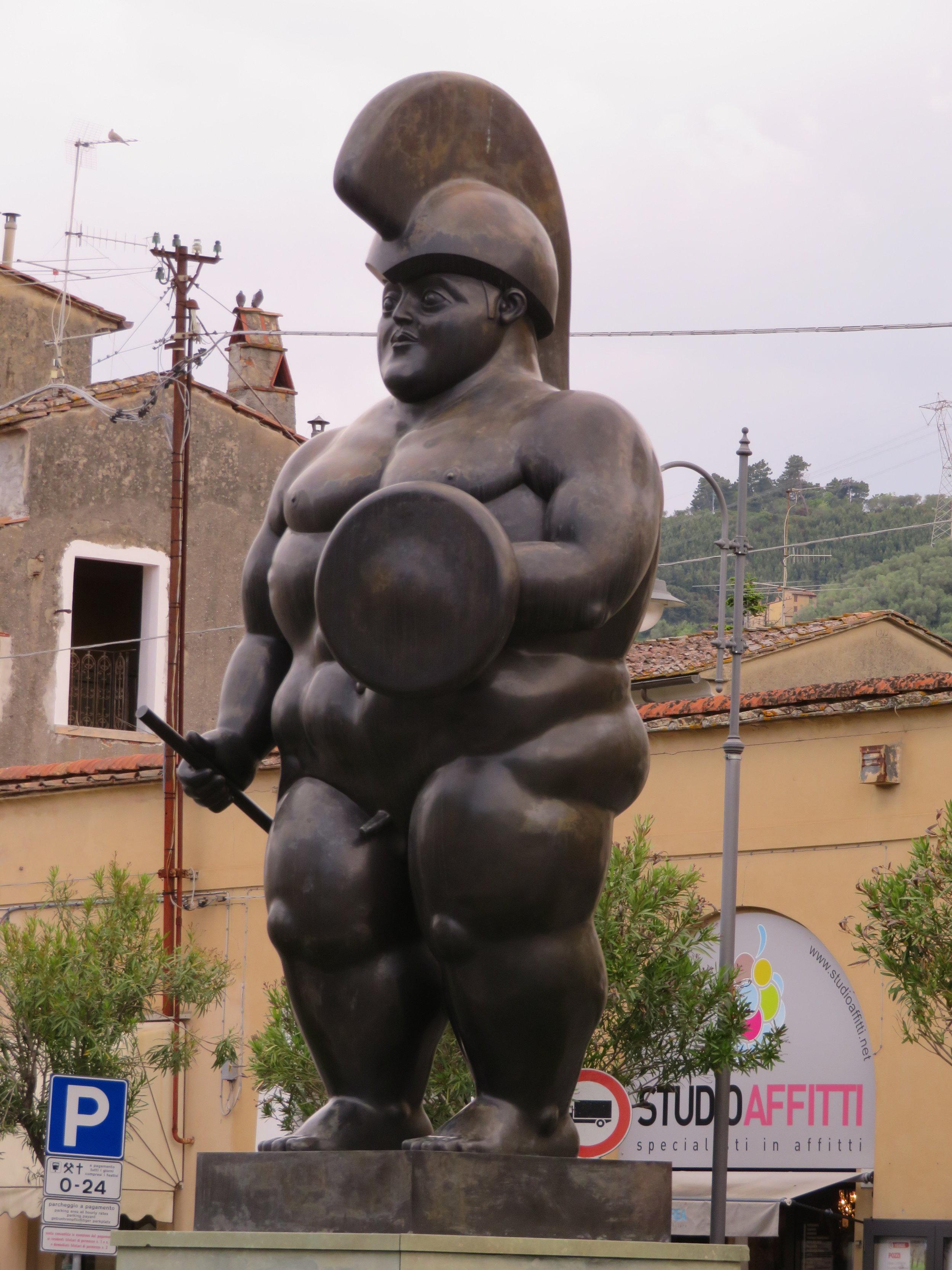 A Roman warrior - Fernando Botero