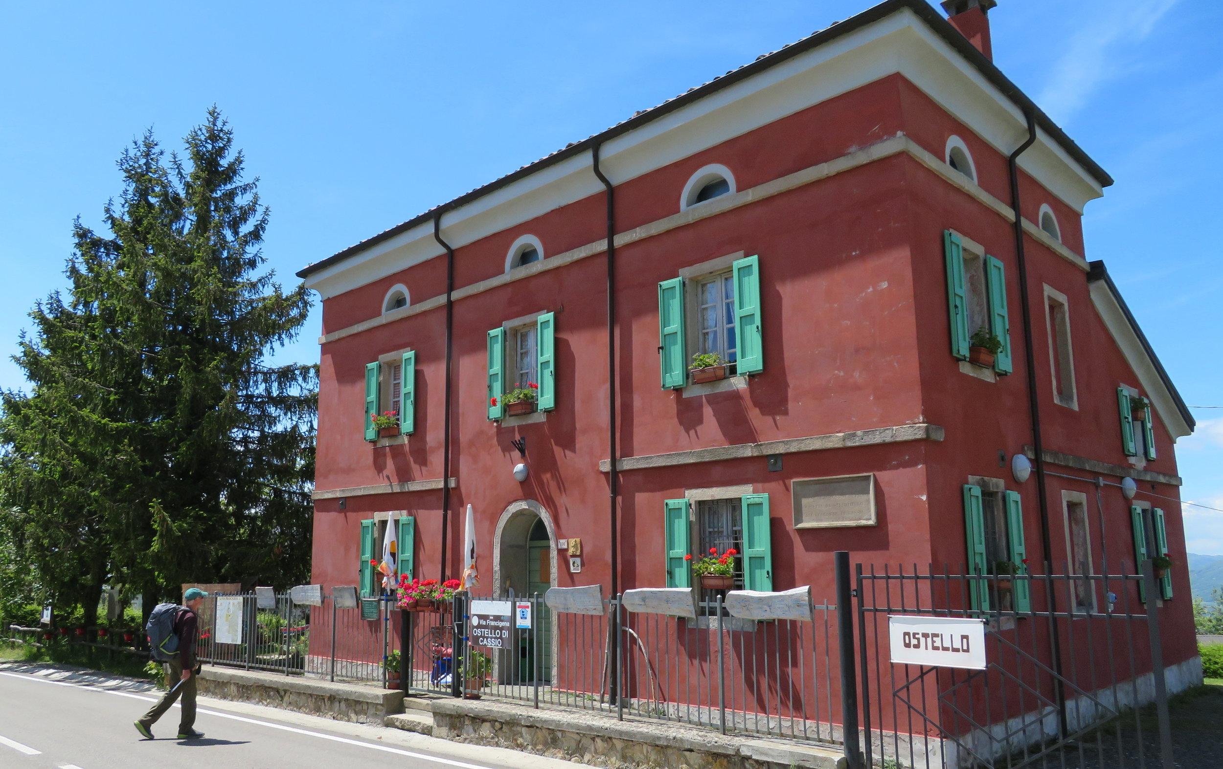 Arrival at Ostello Cassio