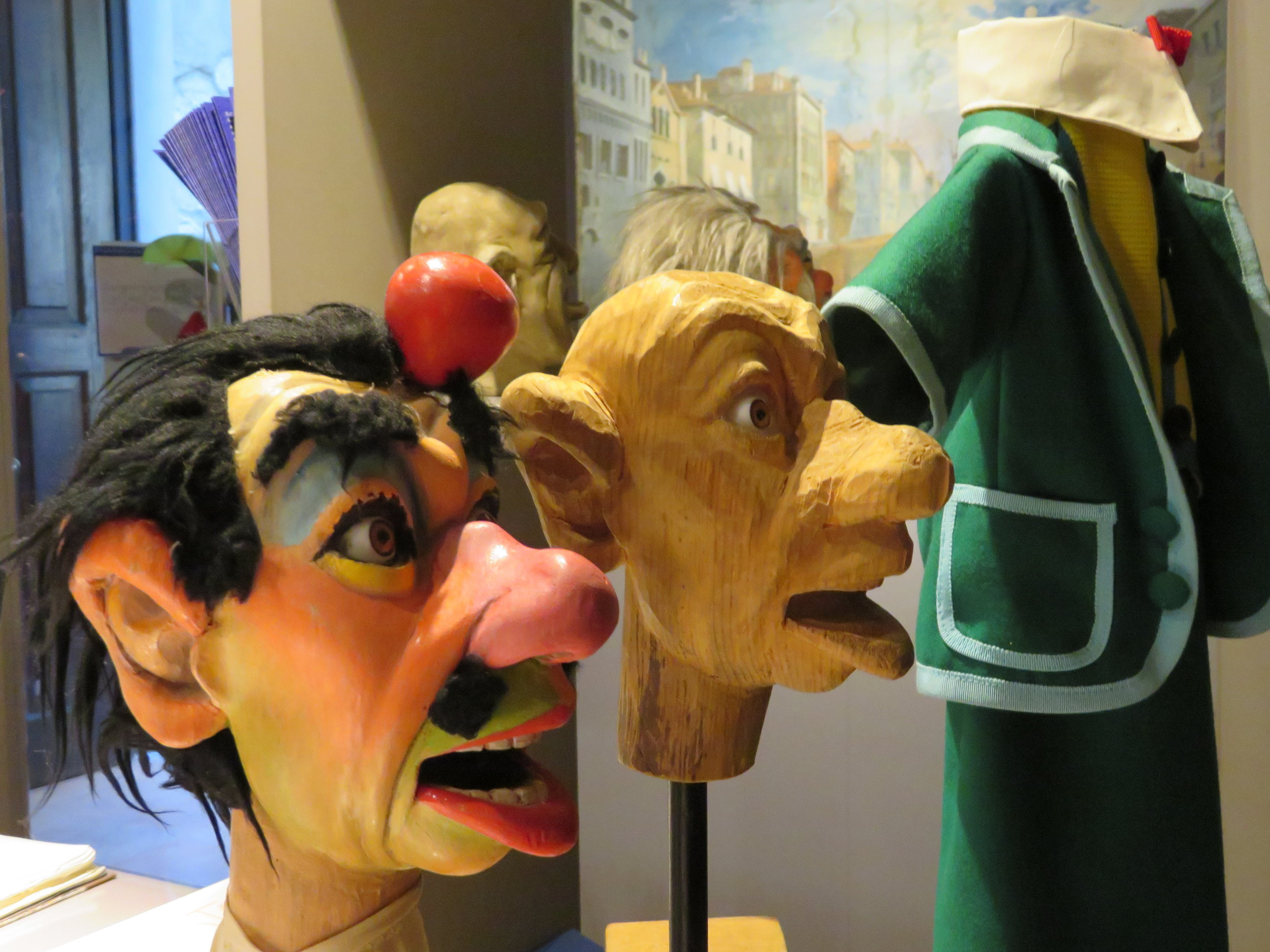 The museum has hundreds of puppets most of which are hand carved and hand painted.