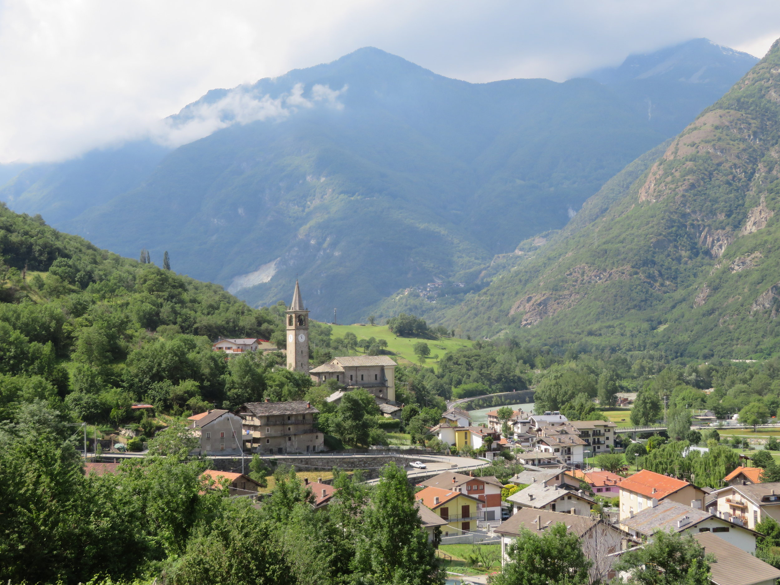 We climbed steep paths for great views of the villages below