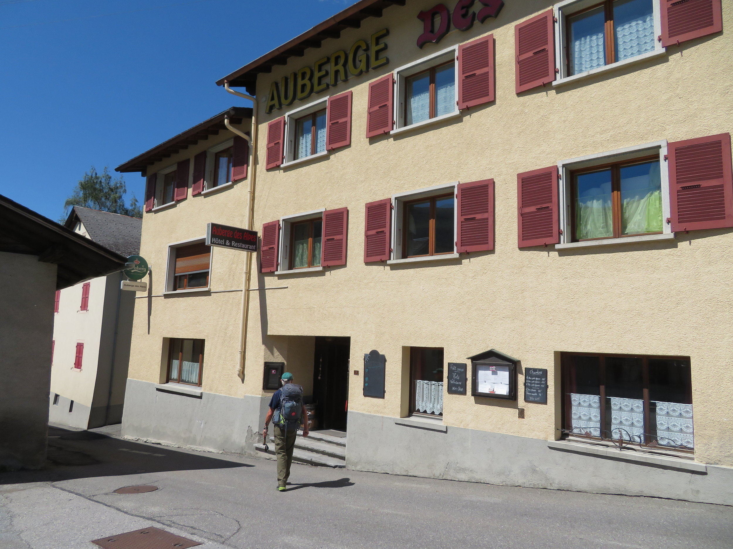 Auberge des Alpes … basic and expensive! We're in Switzerland.