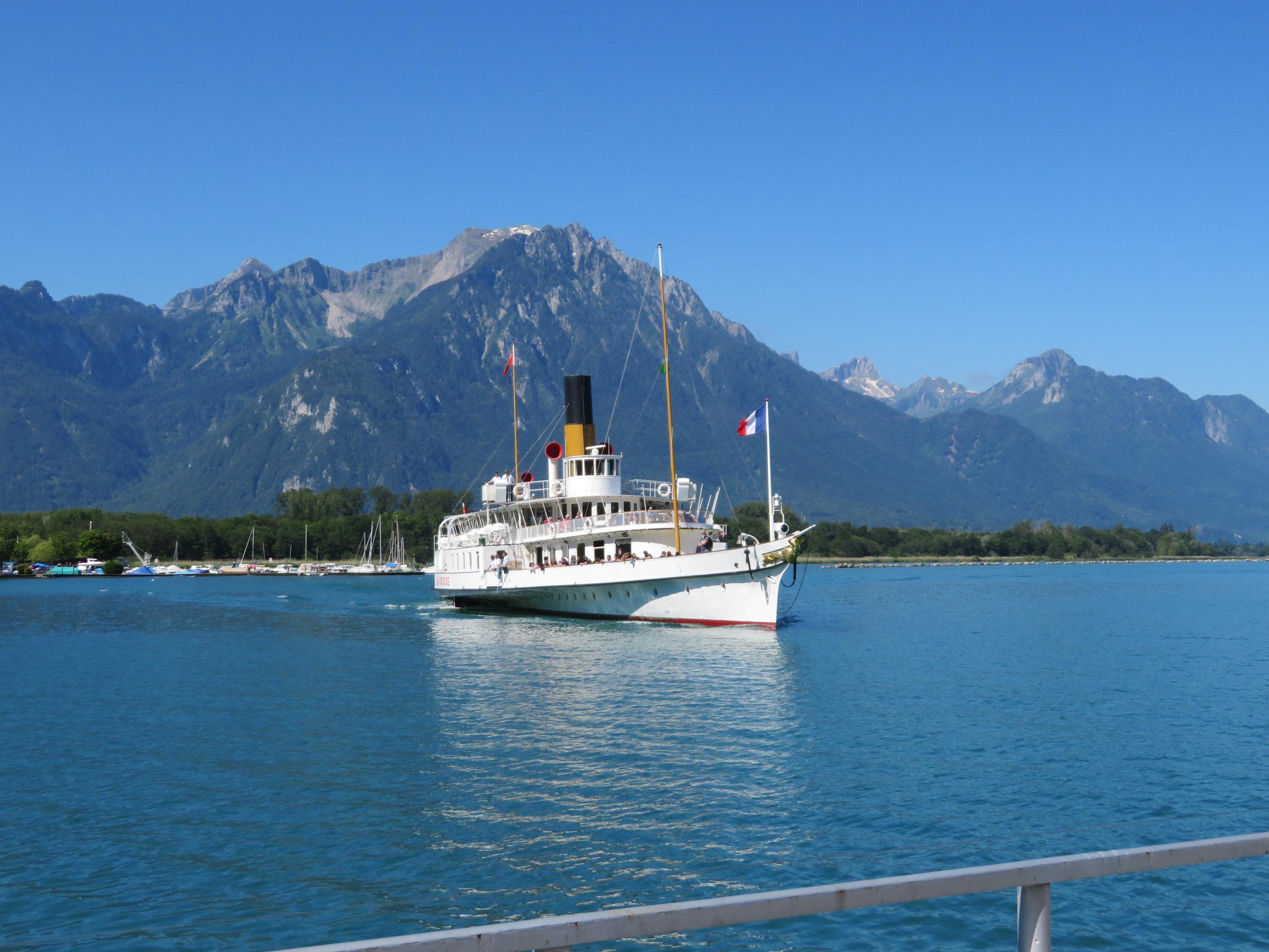 Our ferry,  La Suisse