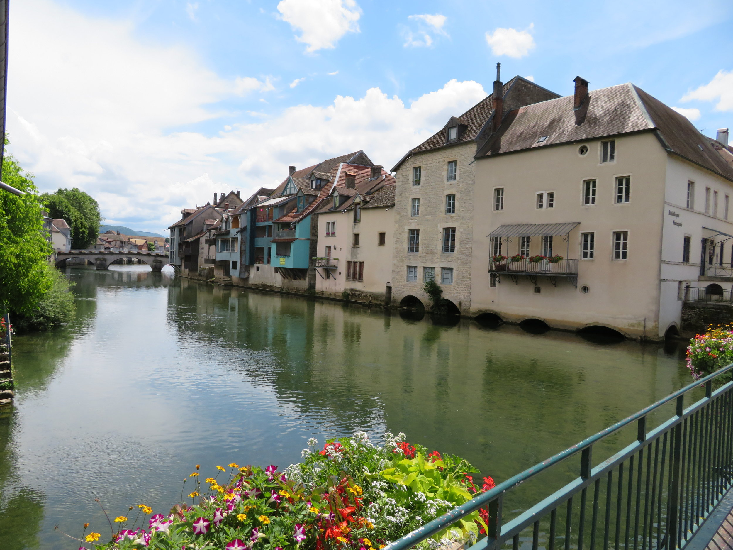Ornans was a charming little riverside town … no wonder there were no rooms available.