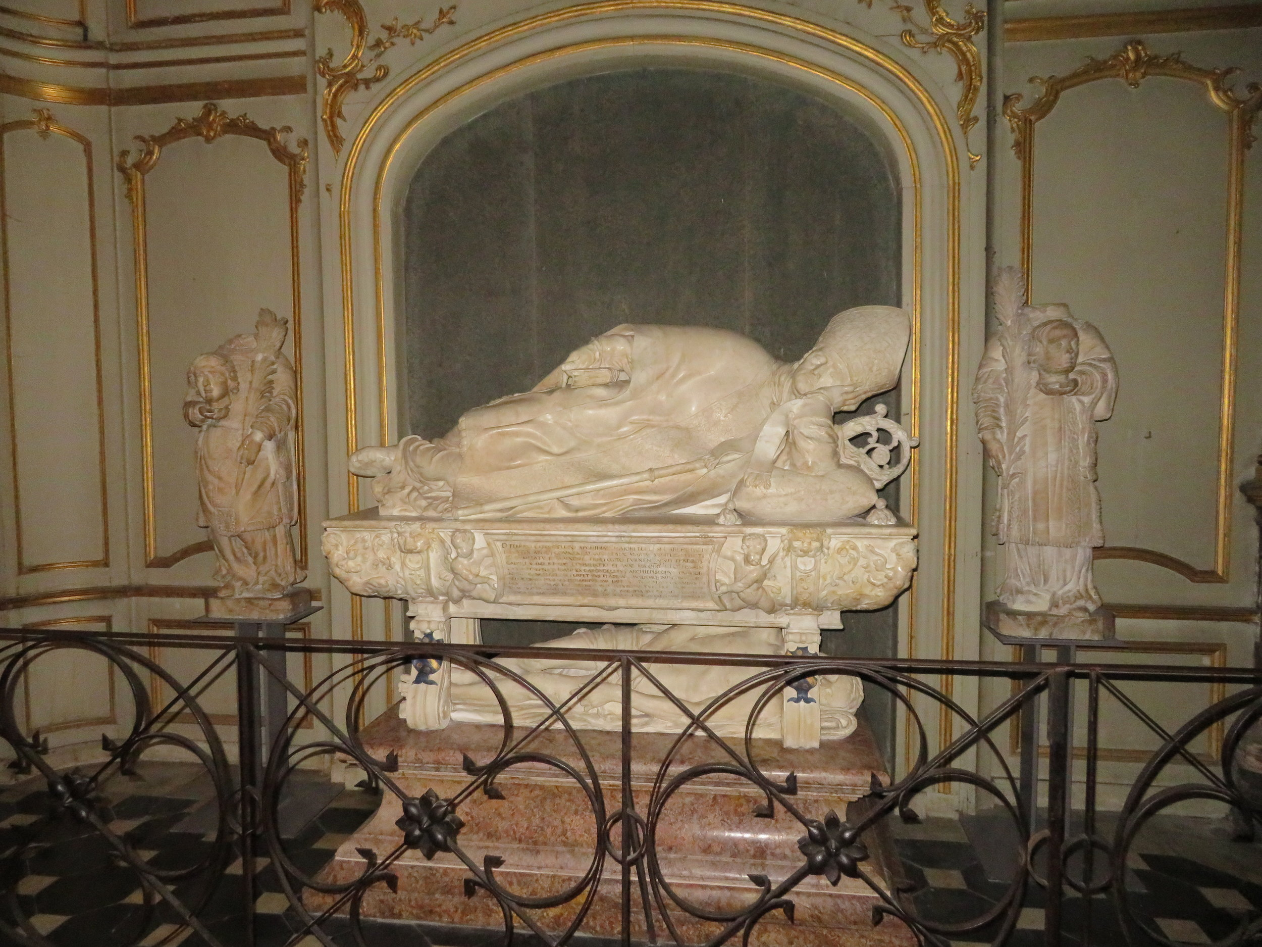 Ferry Carondolet's grave, a finely sculptured tomb