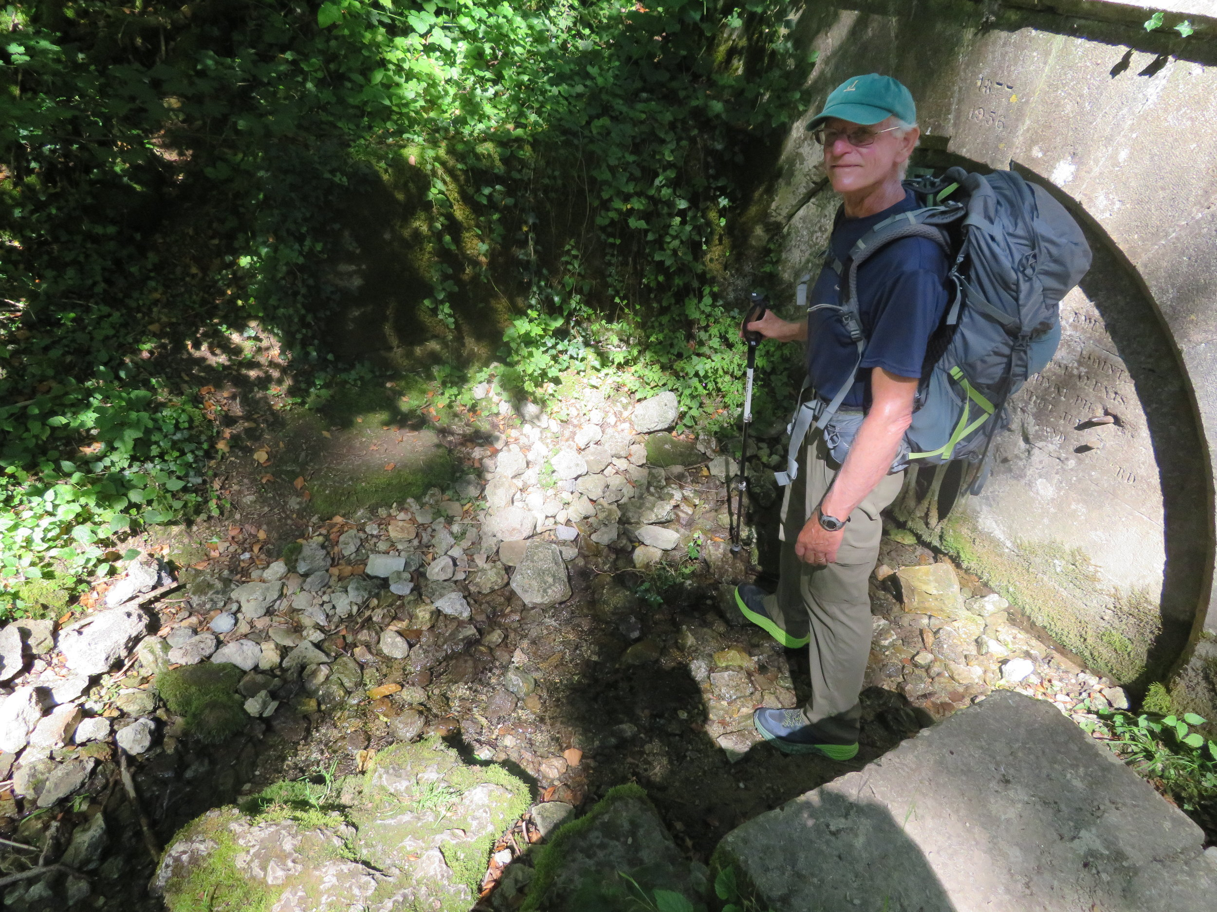 The Source of the Marne River … not very impressive, but a river has got to start somewhere!