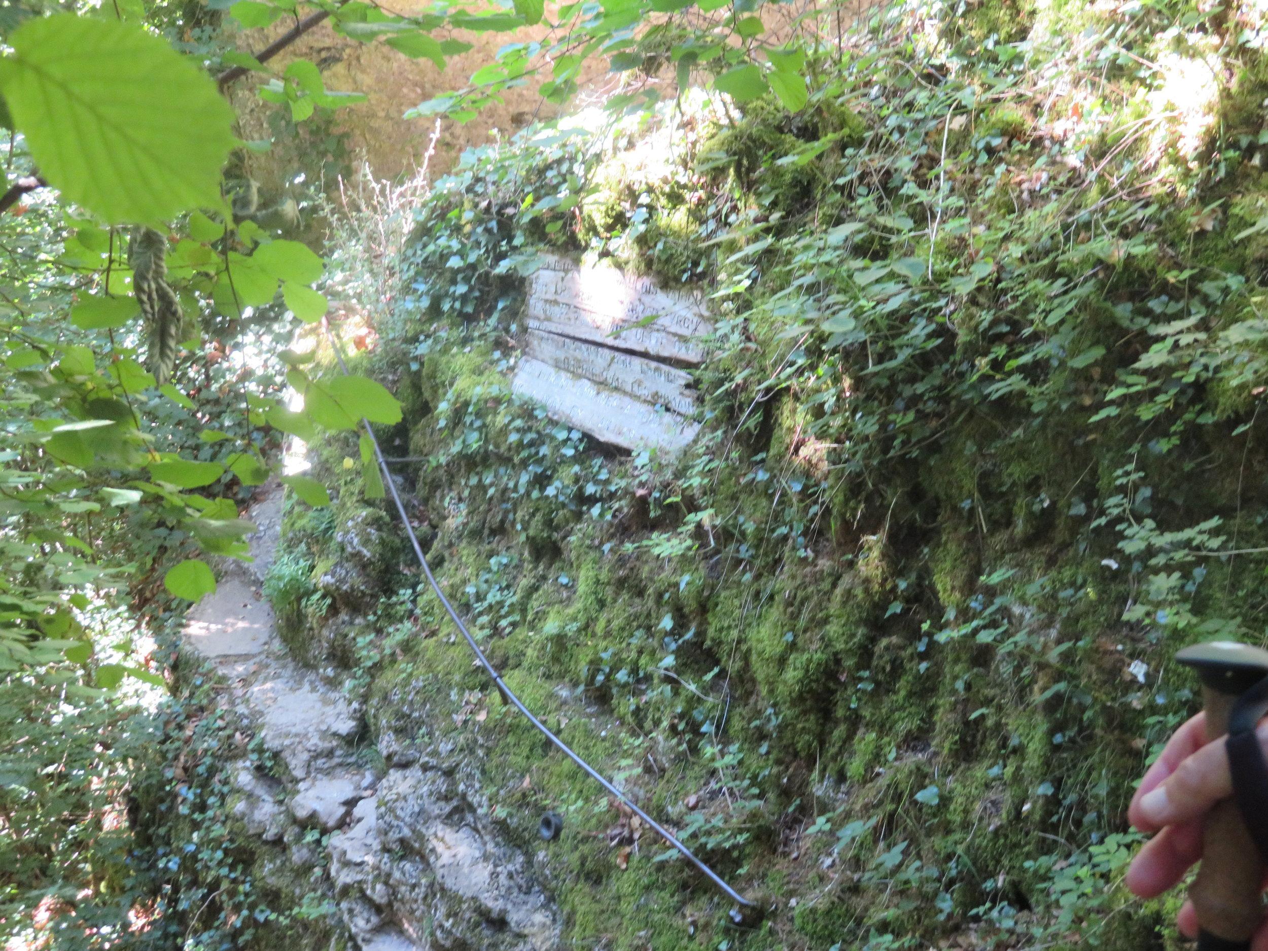 A steep narrow path