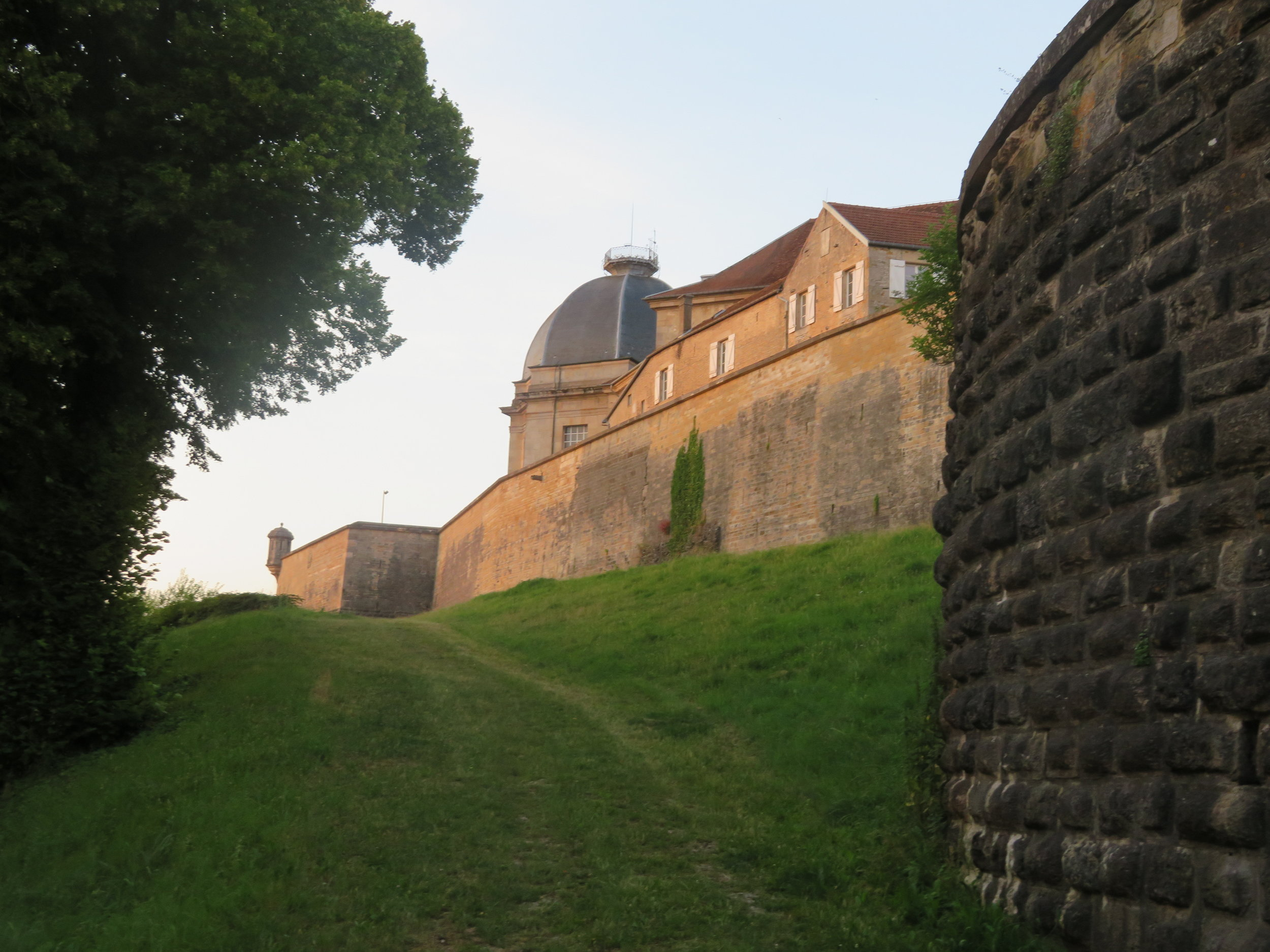 Down the path and out of the walled city