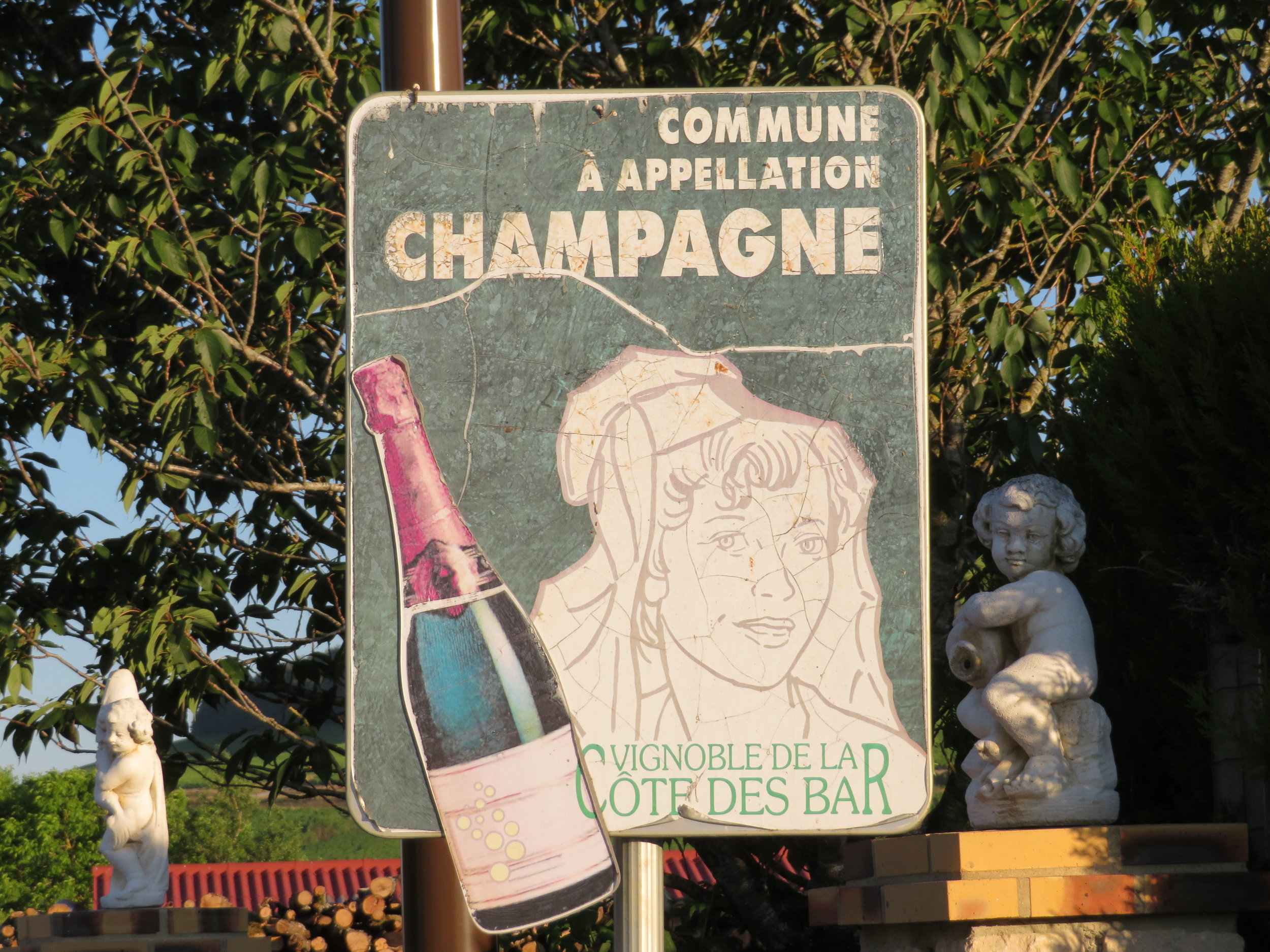 We've walked right into France's Champagne Region