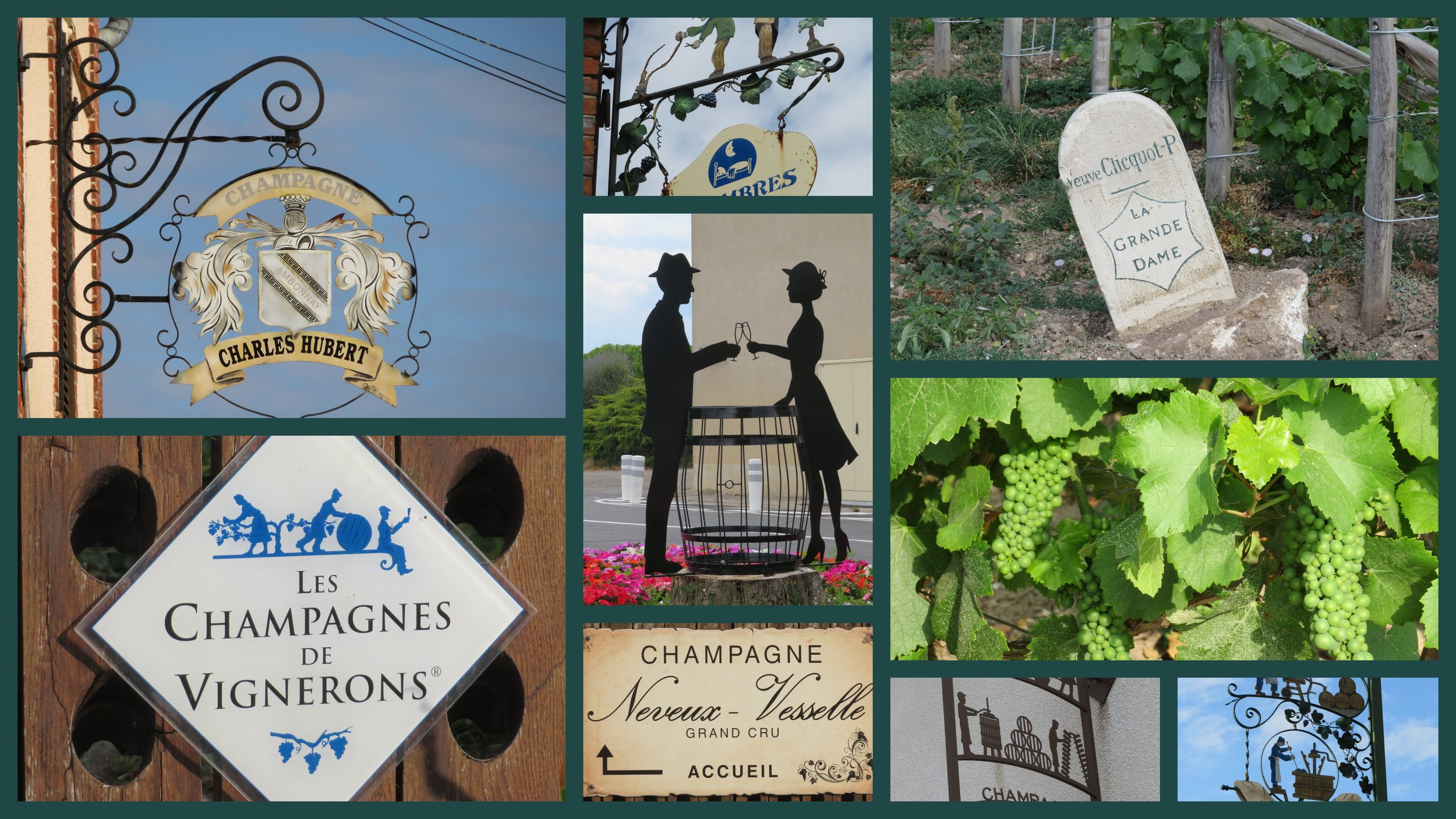 We're now trekking our way through champagne country