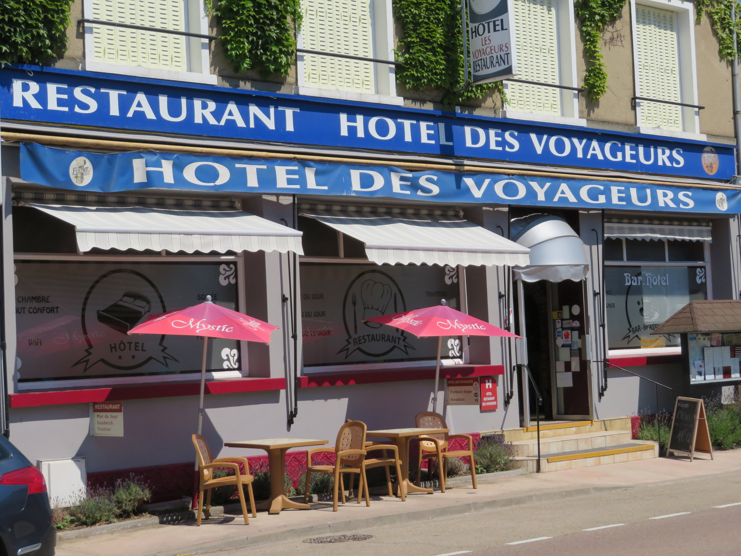 Hotel des Voyageurs was basic, but adequate