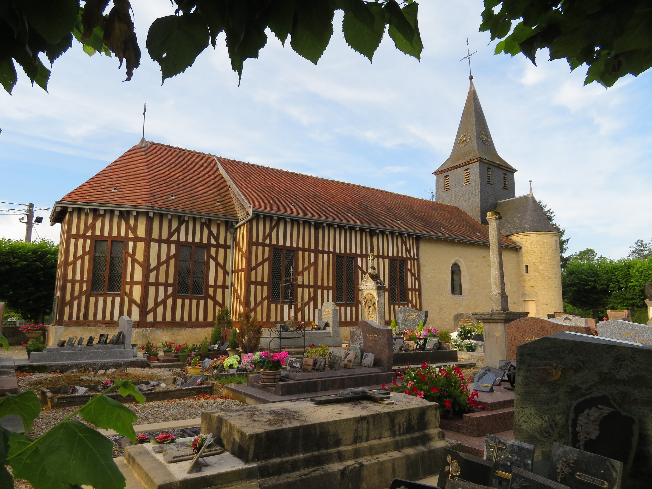 Half-timbered church in Juzanvigny