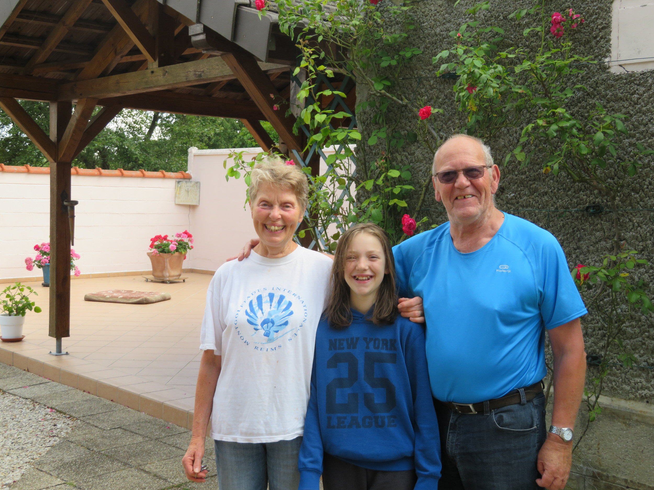 Helene & Alain and their granddaughter, Anaelle … our trail angels