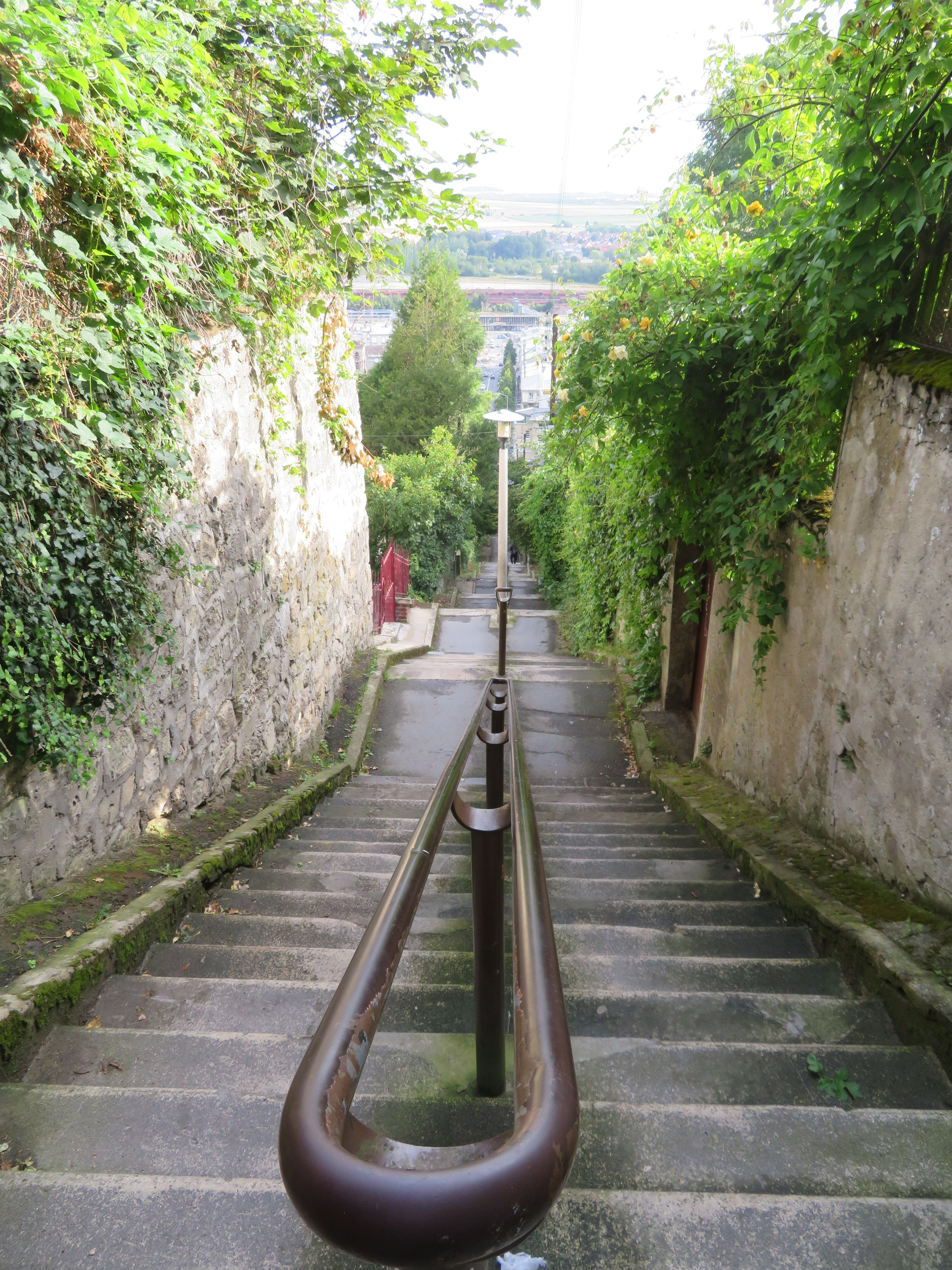 Lots of stairs to climb up to Laon's old city … always looks easier when you're looking down!