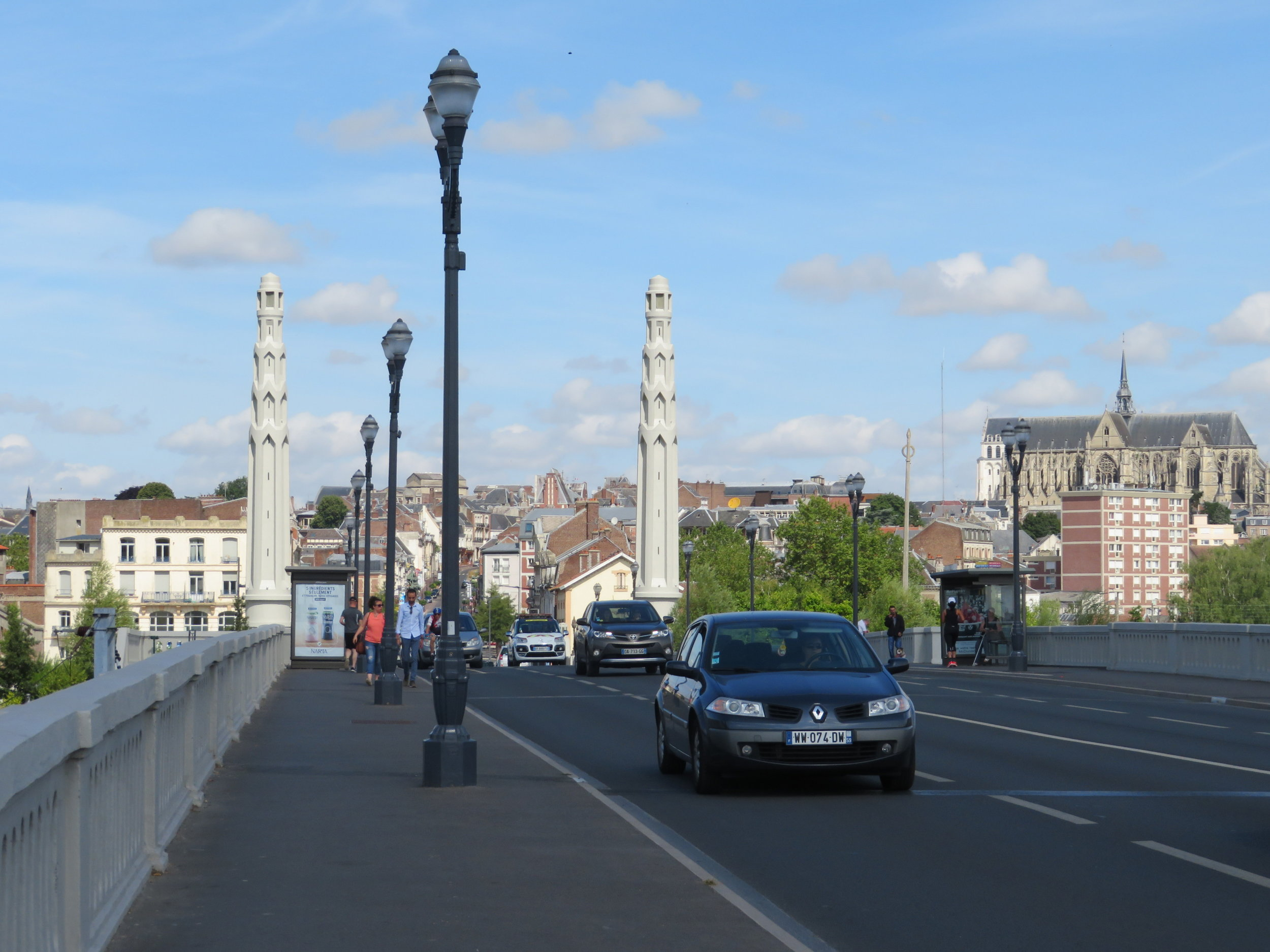 We passed over the bridge in St.Quentin, the very same path Napoleon took in 1810.