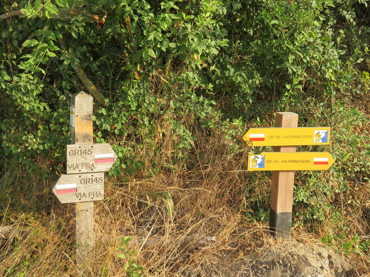We've been on and off the Via Francigena, but rejoined it again today.