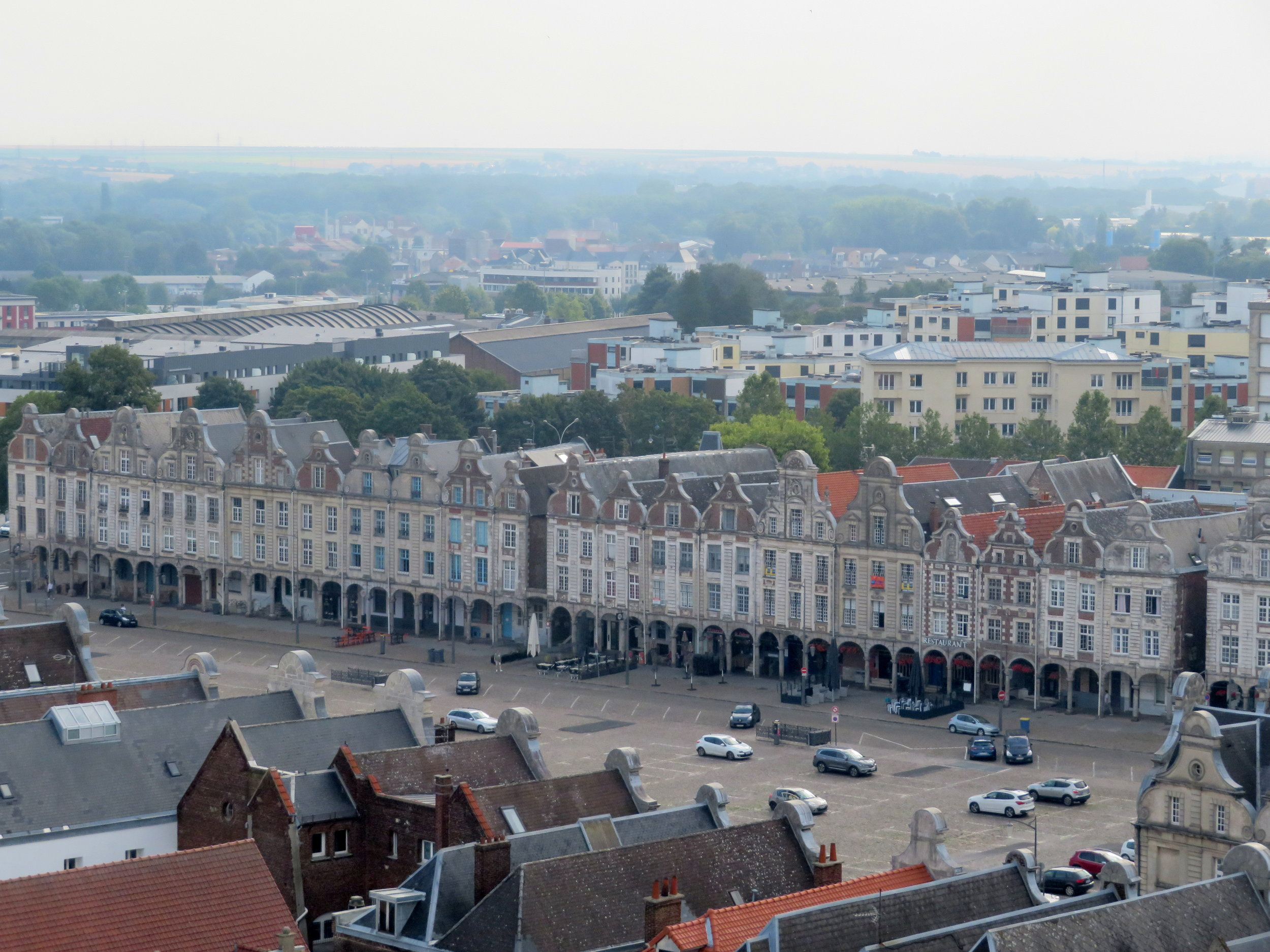 Arcade view of Grand Place