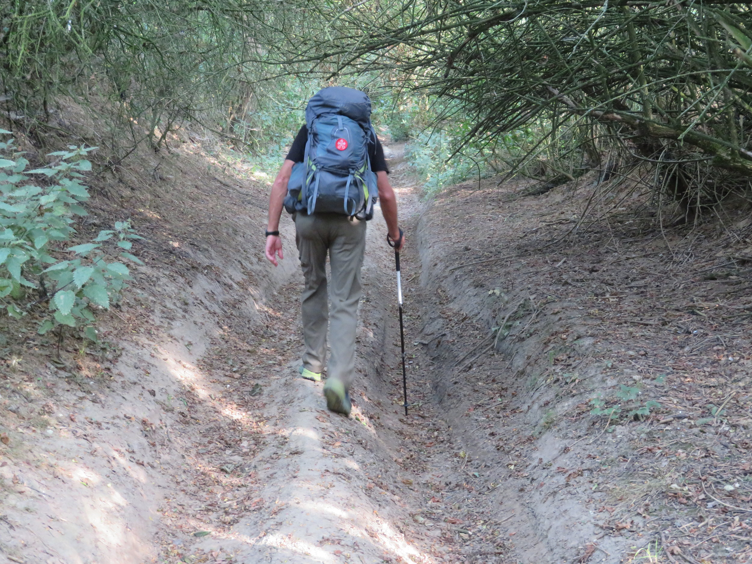 Deep, rutted roads made walking somewhat difficult at times