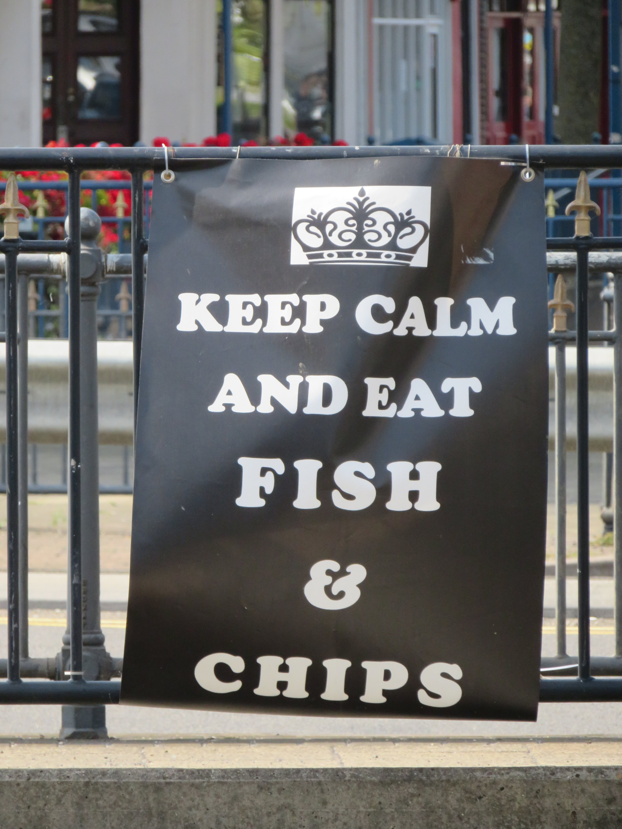 There was no doubt we were in England when we saw this sign.