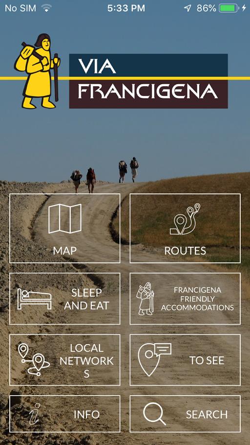 The official Via Francigena App