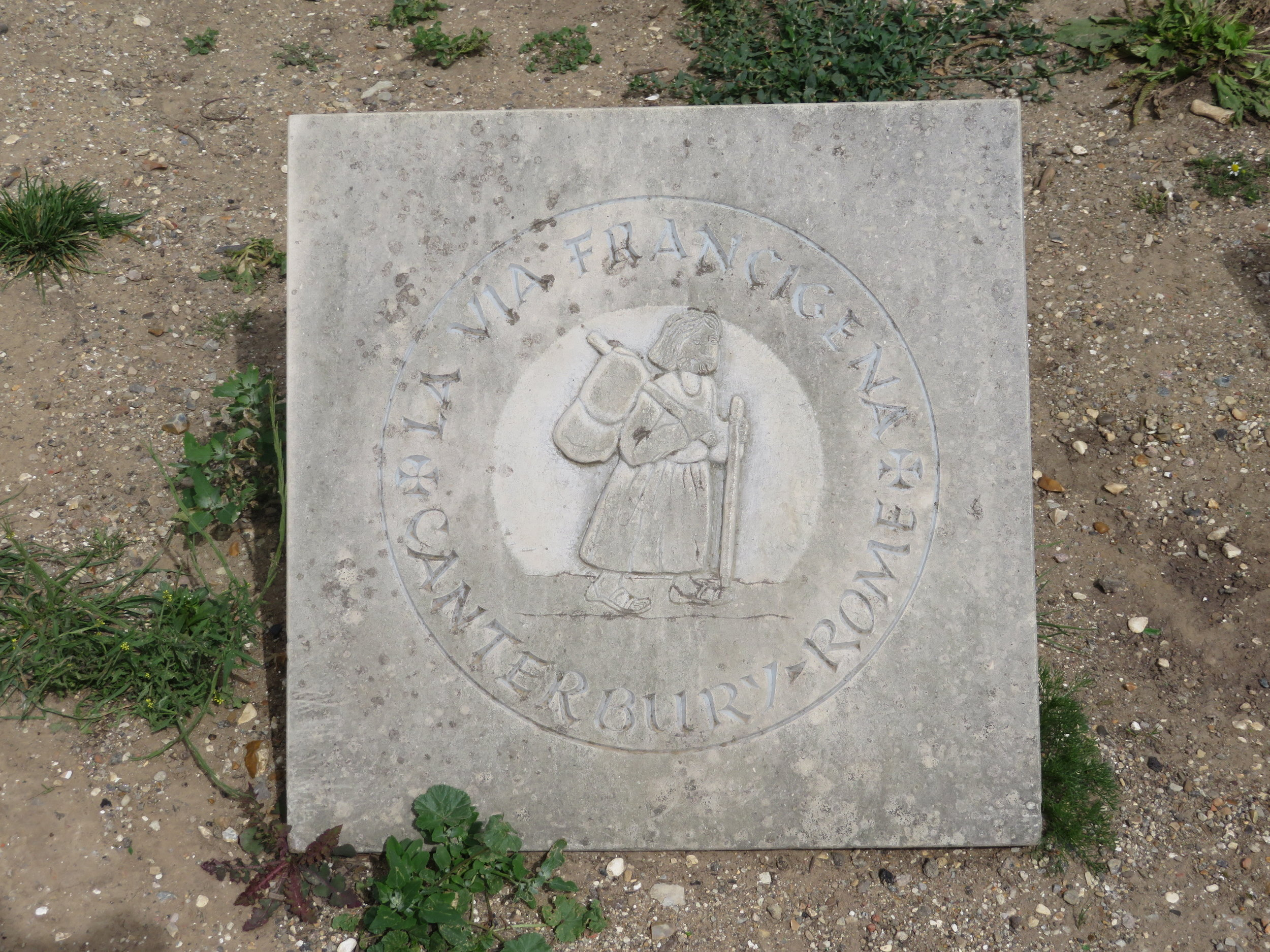We noted the final (or the first) marker of the Via Francigena just outside the Cathedral. We were done.