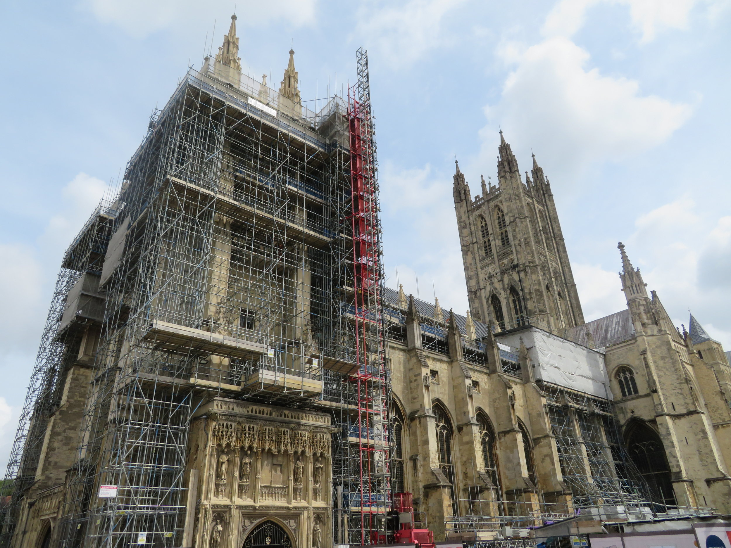Canterbury Cathedral … It's a magnificent building, although the scaffolding enveloping the exterior was a bit of a disappointment.