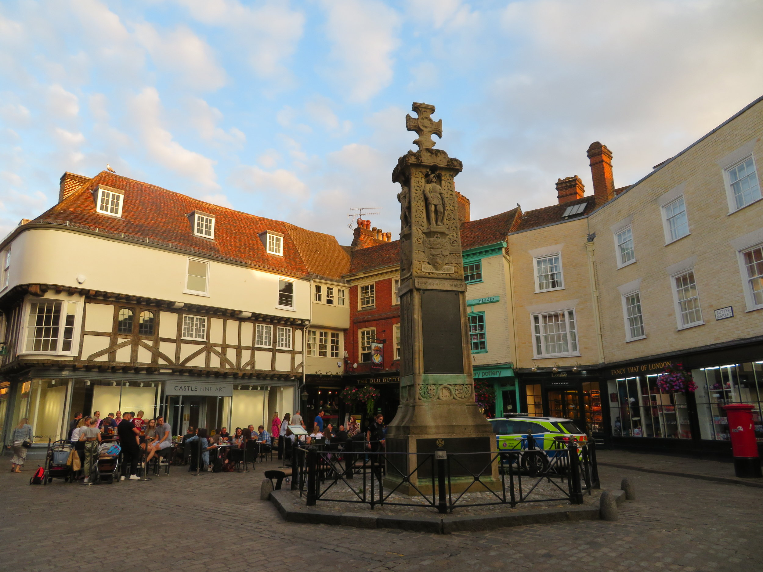 Buttermarket Square and the War Memorial