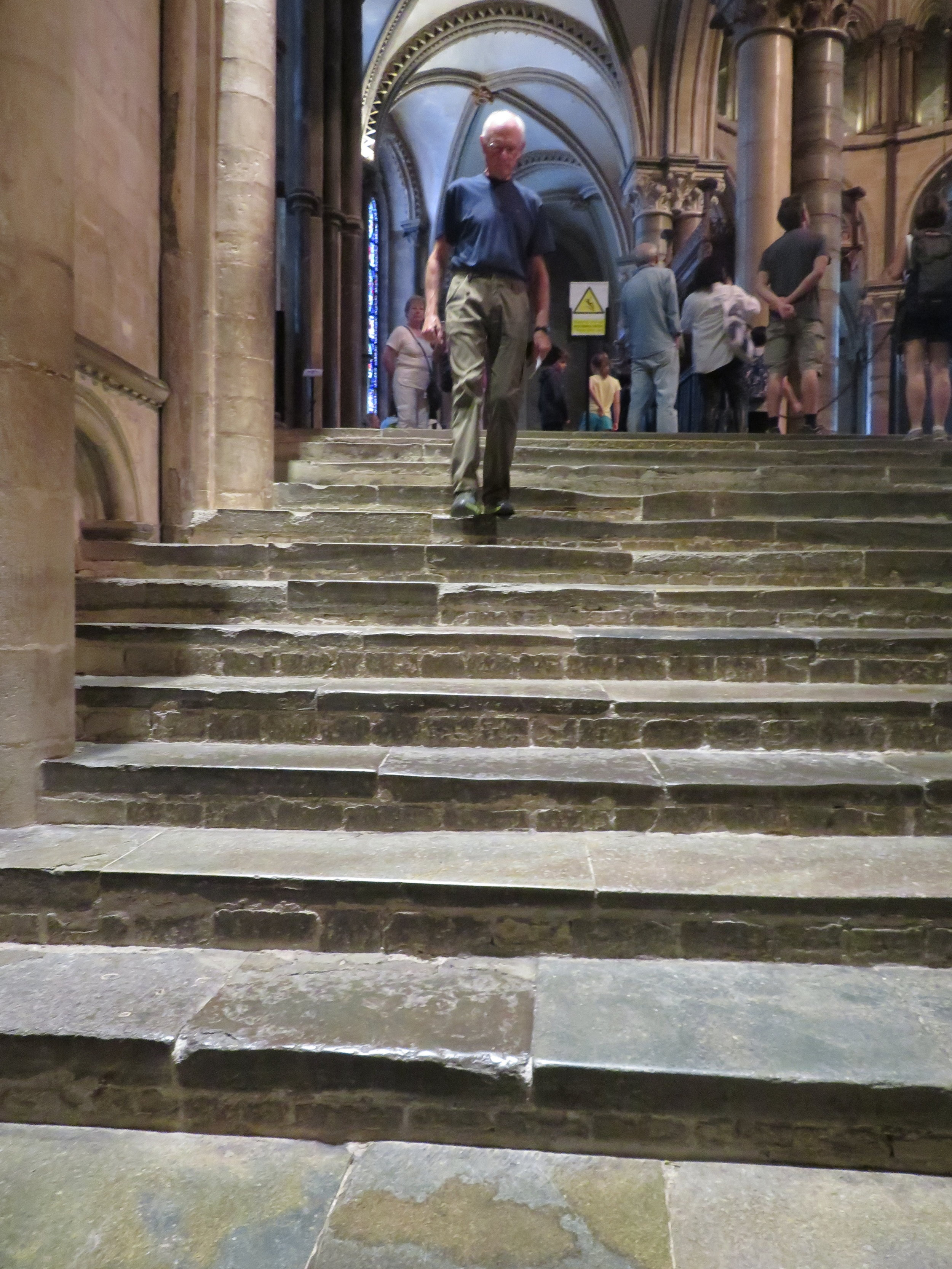 It was the cathedral steps that intrigued me. Stone steps worn smooth with the footsteps of thousands, maybe millions, in centuries past. You could feel it as you trod upon them.
