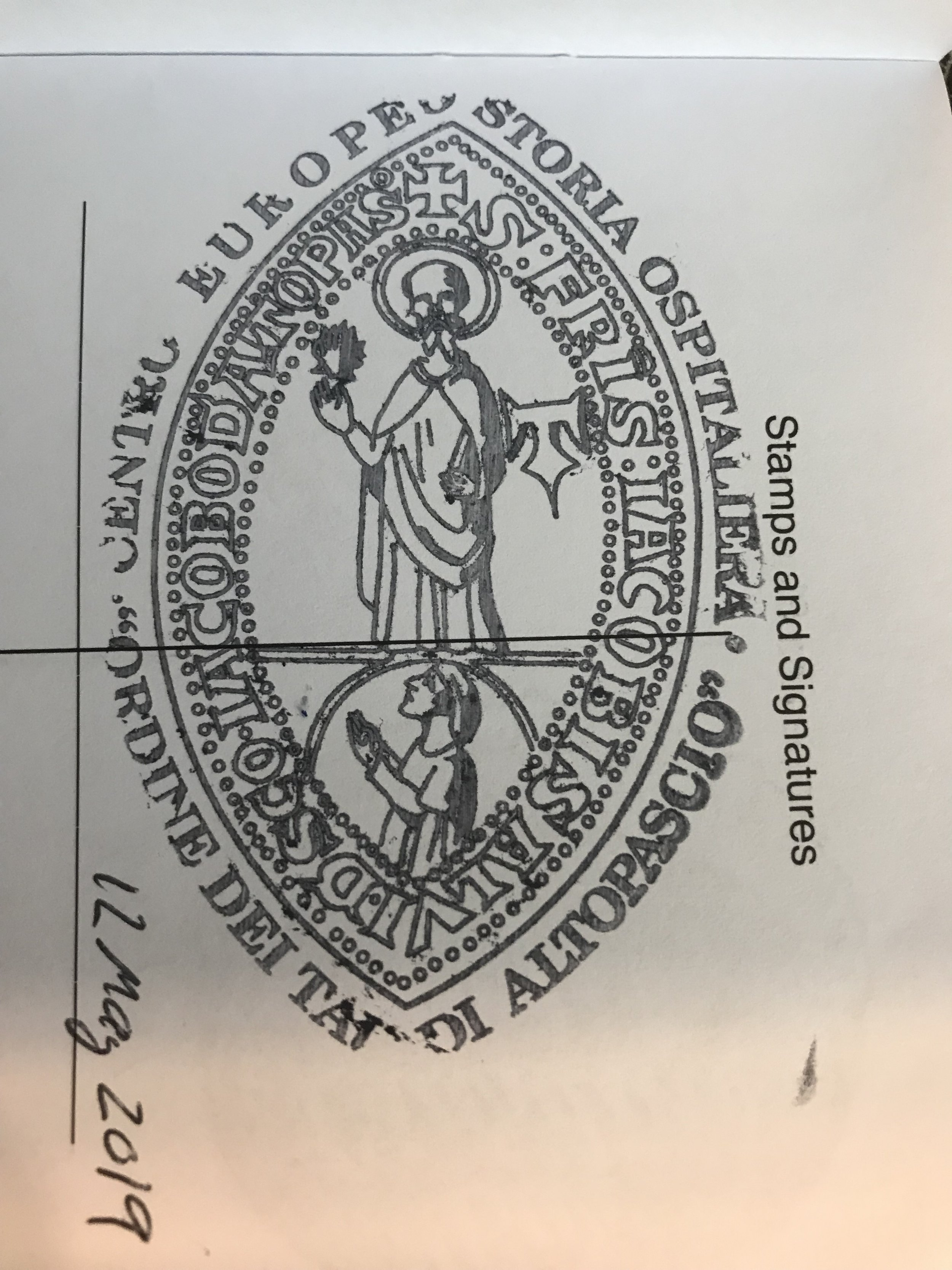 A great stamp from the town of Altopascio, Italy