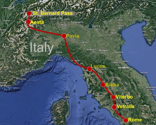 Italian Section of the Via Francigena