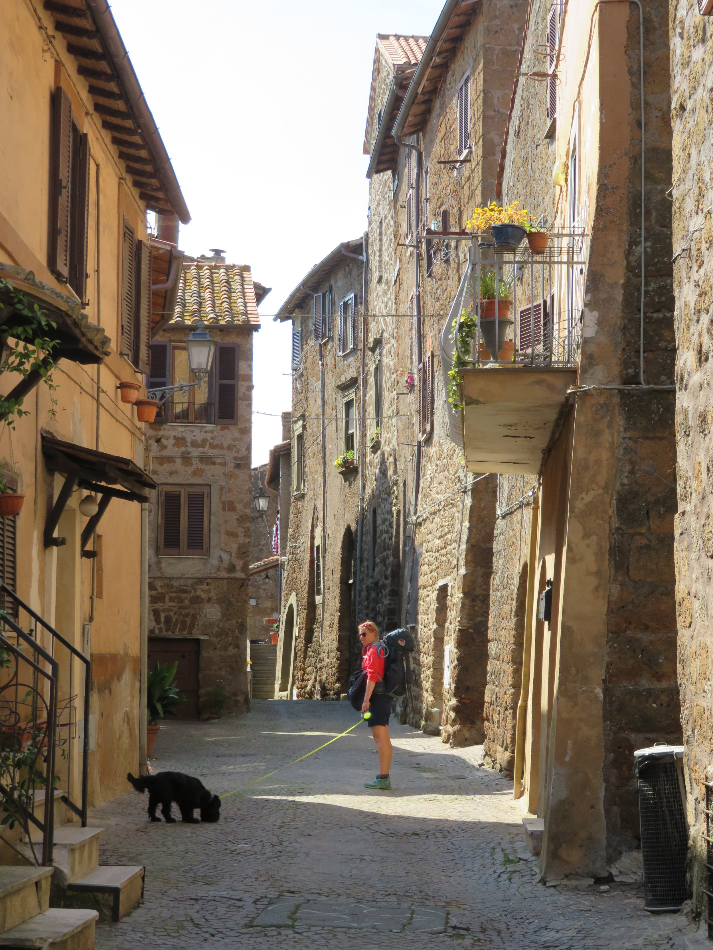 A quaint cobblestone street in Italy