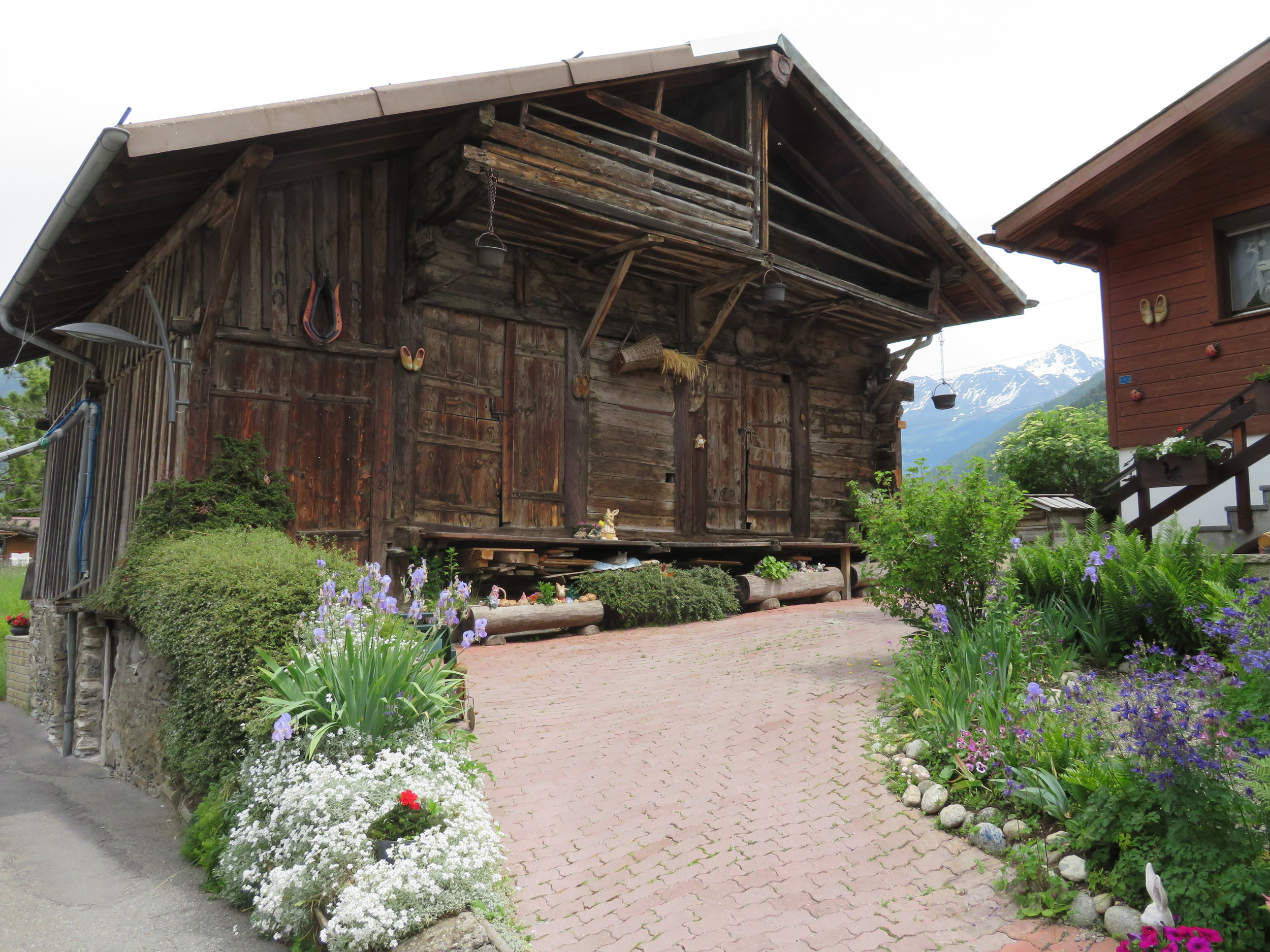 In Switzerland, even the old barns are neat and tidy