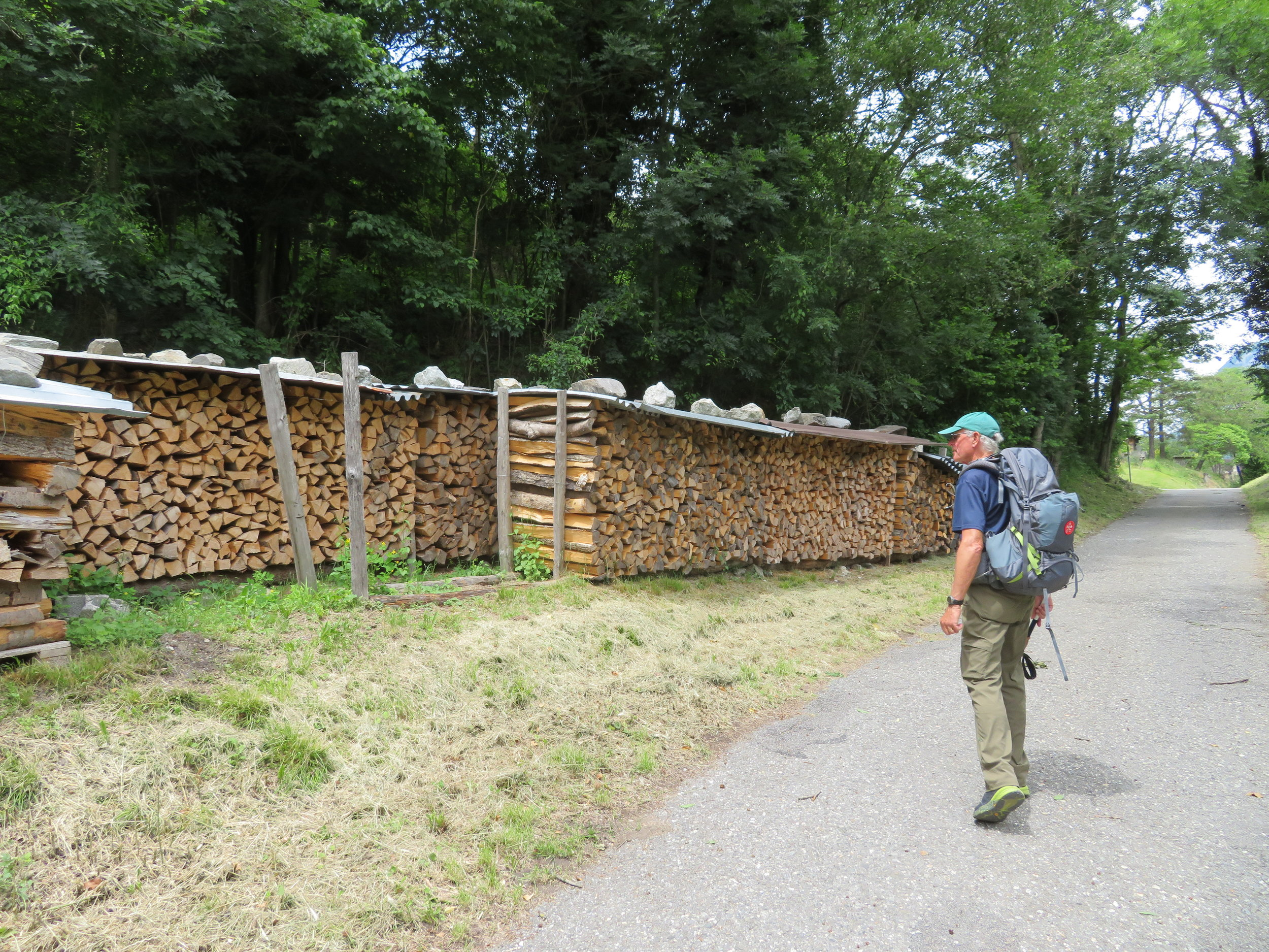 Even stacking firewood was an art form in Switzerland