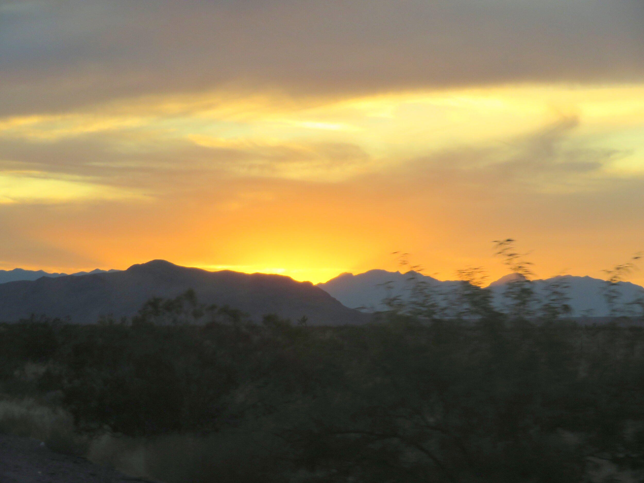 A Nevada sunset