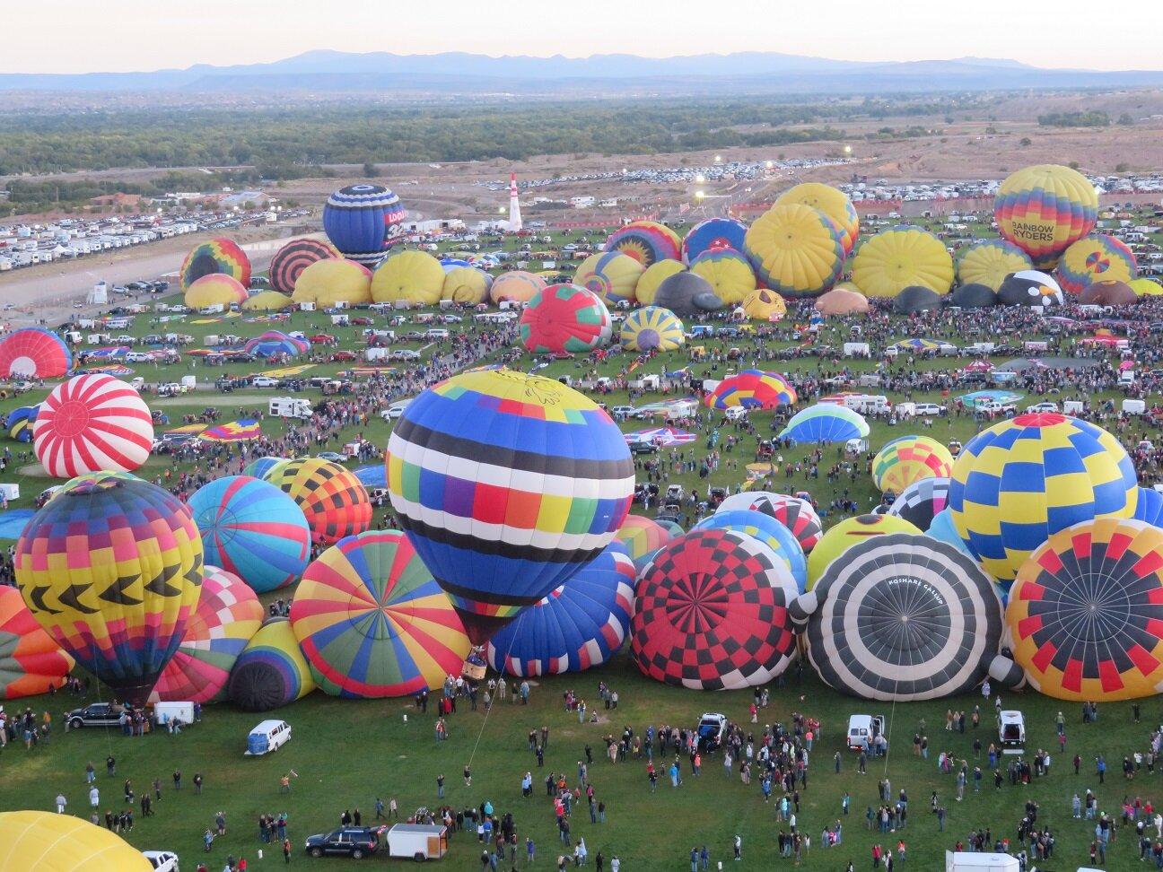 View of Fiesta Park from aloft