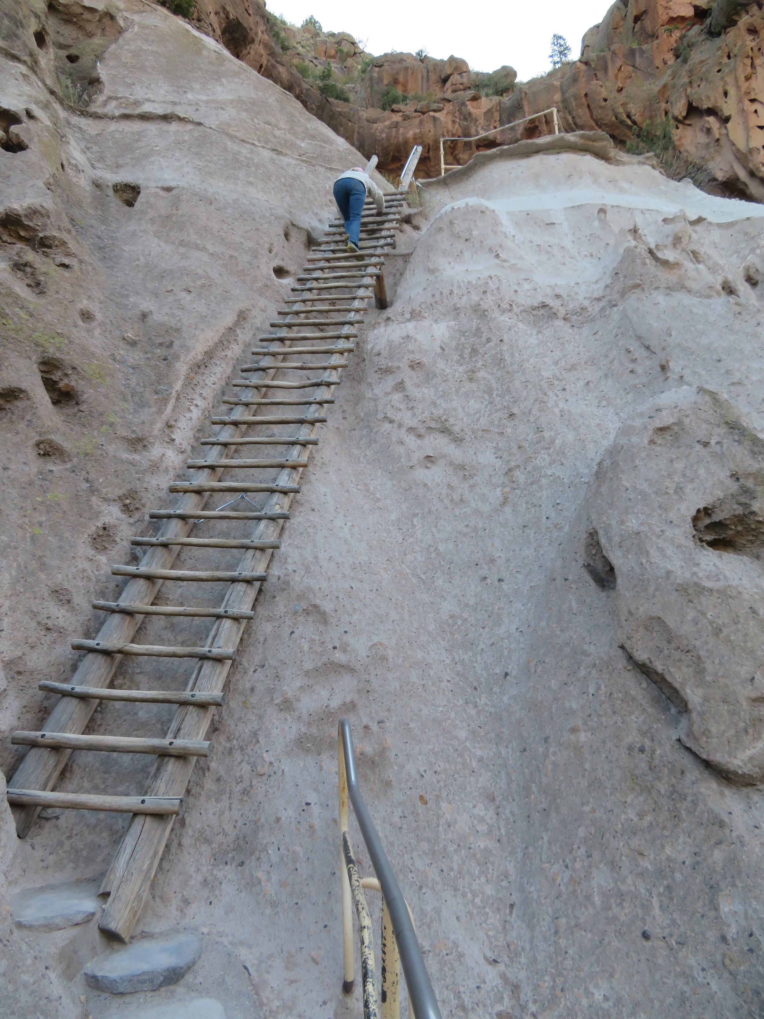A long way up …